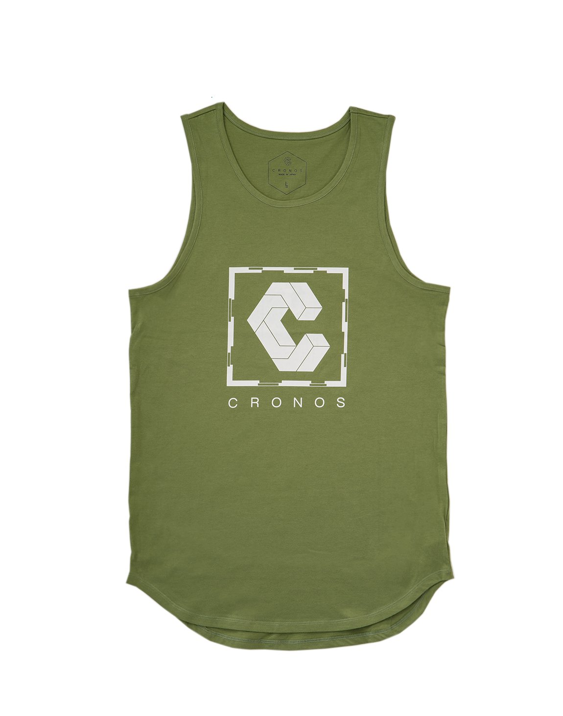 <img class='new_mark_img1' src='https://img.shop-pro.jp/img/new/icons1.gif' style='border:none;display:inline;margin:0px;padding:0px;width:auto;' />CRONOS SQUARE LOGO TANK TOP 【OLIVE&KHAKI】