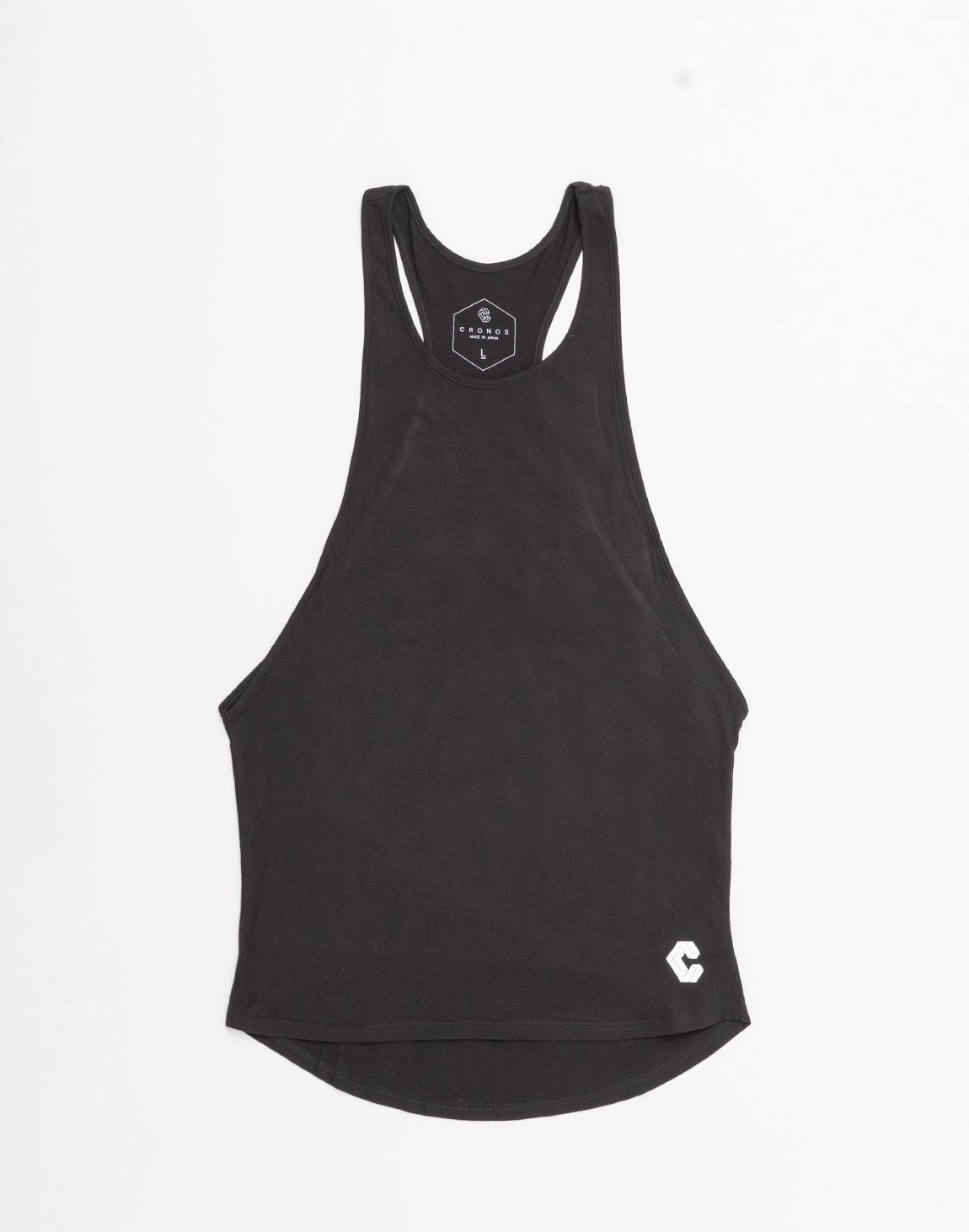 <img class='new_mark_img1' src='https://img.shop-pro.jp/img/new/icons1.gif' style='border:none;display:inline;margin:0px;padding:0px;width:auto;' />CRONOS WIDE CUFFS LOGO TANK TOP 【BLACK】