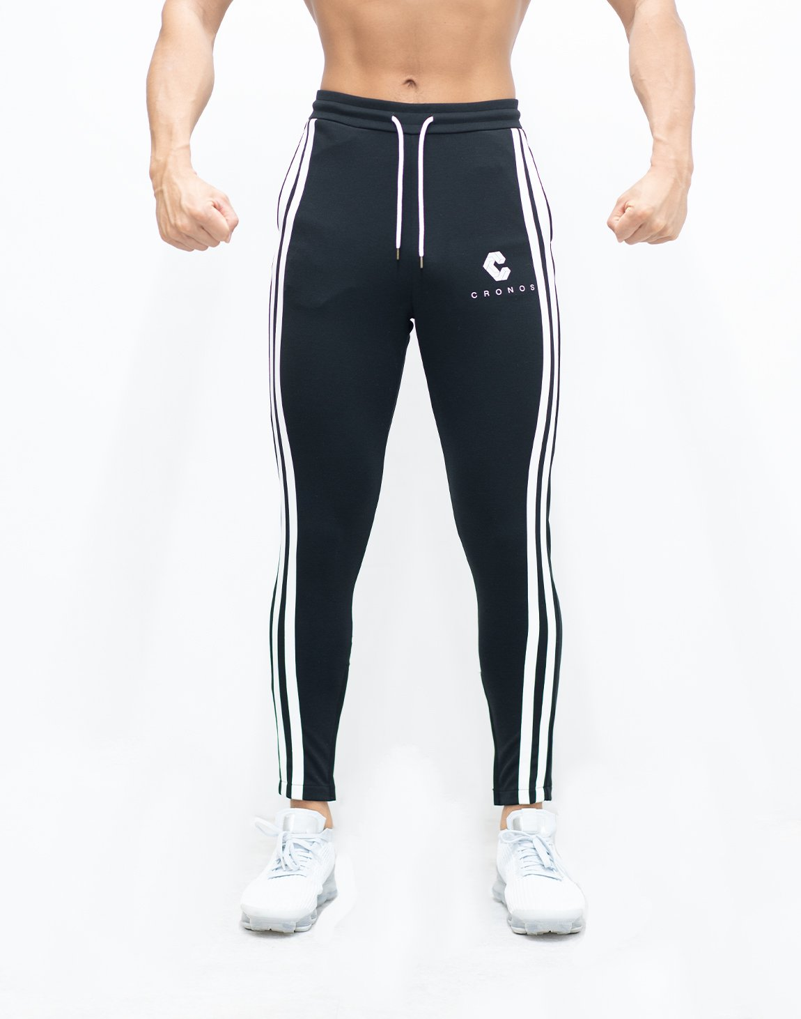 <img class='new_mark_img1' src='https://img.shop-pro.jp/img/new/icons1.gif' style='border:none;display:inline;margin:0px;padding:0px;width:auto;' />CRNS TWO LINE CALF LOGO PANTS 【BLACK】