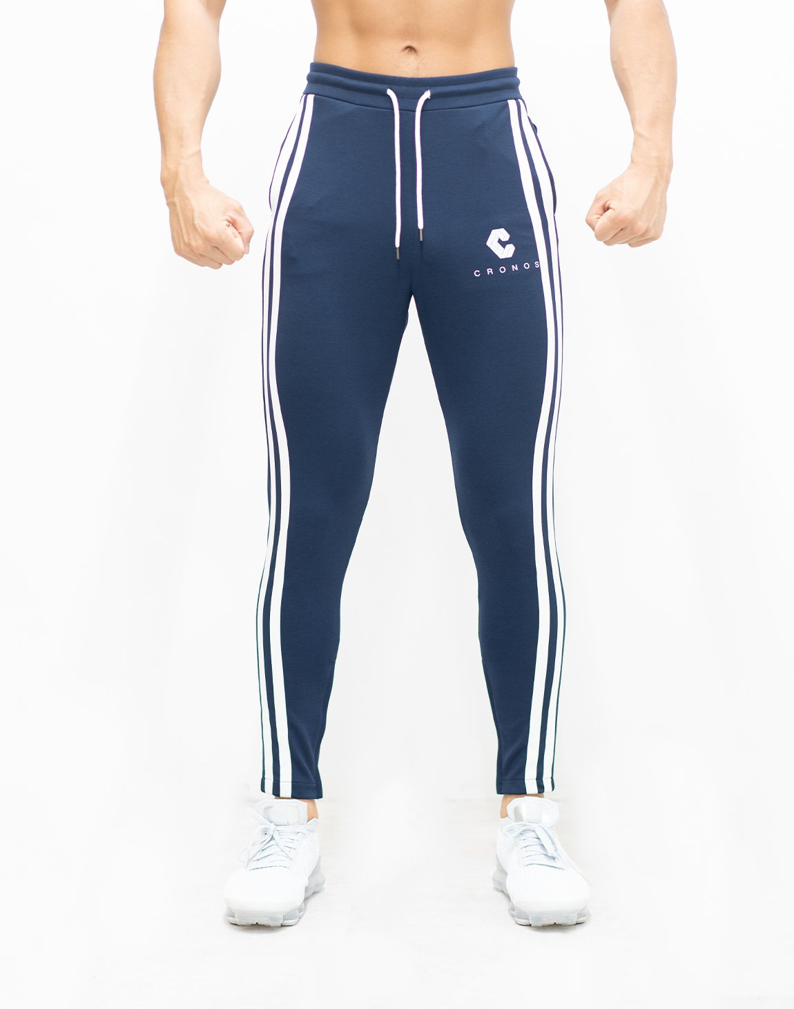 <img class='new_mark_img1' src='https://img.shop-pro.jp/img/new/icons1.gif' style='border:none;display:inline;margin:0px;padding:0px;width:auto;' />CRNS TWO LINE CALF LOGO PANTS 【NAVY】