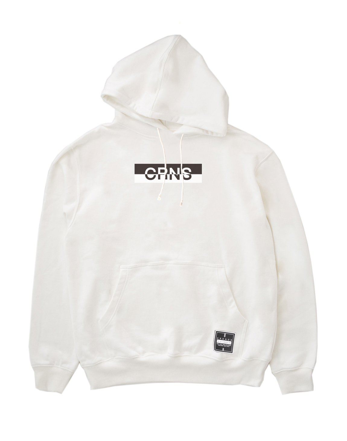 <img class='new_mark_img1' src='https://img.shop-pro.jp/img/new/icons1.gif' style='border:none;display:inline;margin:0px;padding:0px;width:auto;' />CRNS BOX LOGO PULL OVER PARKA 【WHTE】