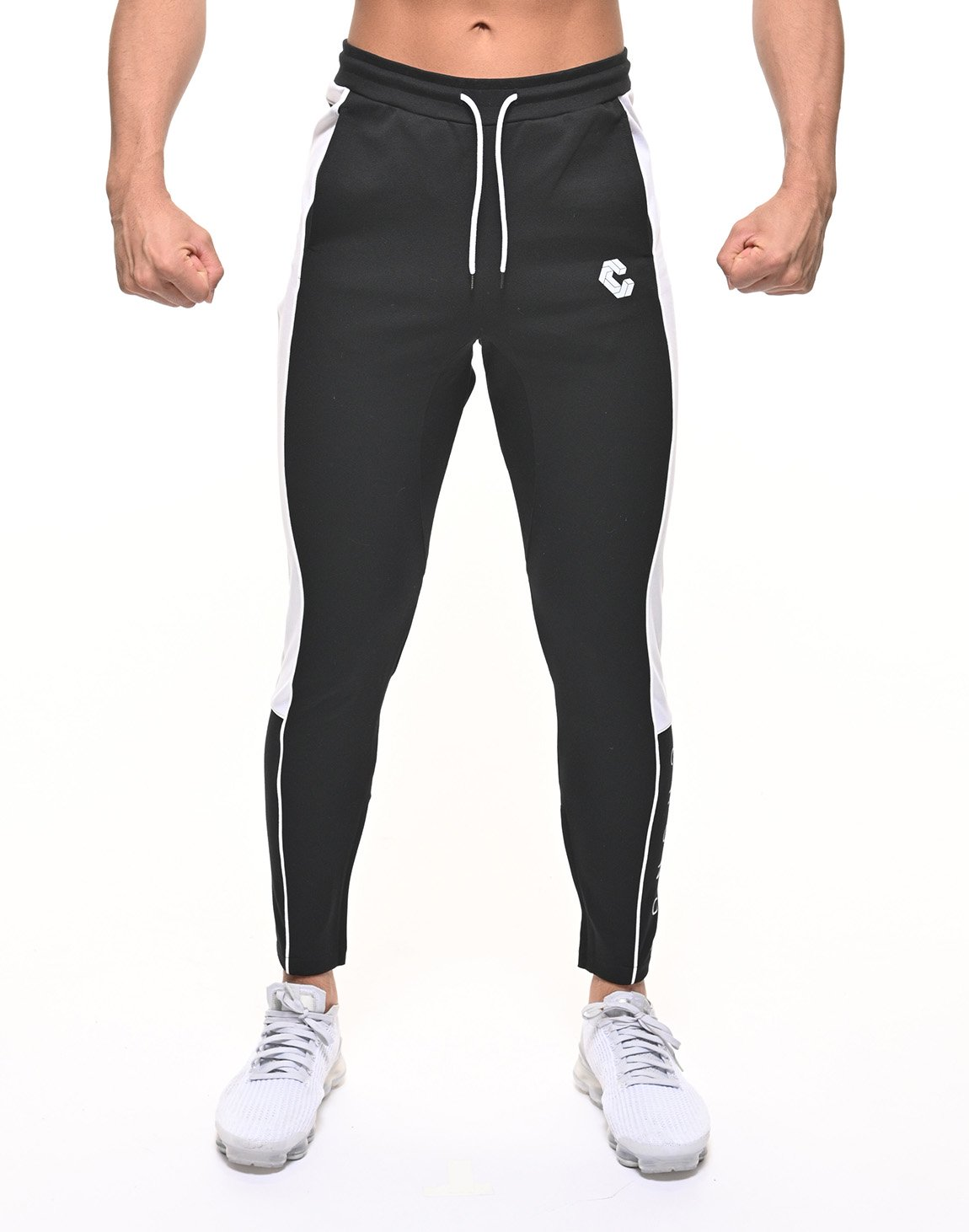 <img class='new_mark_img1' src='https://img.shop-pro.jp/img/new/icons1.gif' style='border:none;display:inline;margin:0px;padding:0px;width:auto;' />CRONOS THICK LINE LOGO PANTS【BLACK】