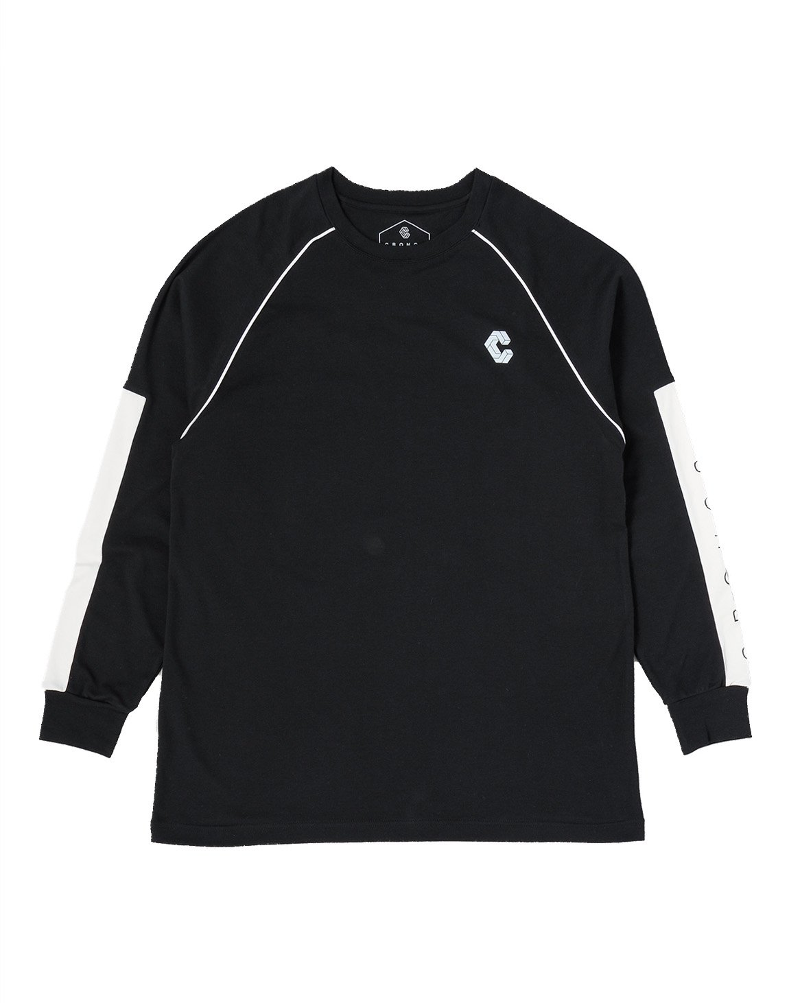 <img class='new_mark_img1' src='https://img.shop-pro.jp/img/new/icons1.gif' style='border:none;display:inline;margin:0px;padding:0px;width:auto;' />CRONOS ARM LOGO LONG SLEEVE【BLACK】