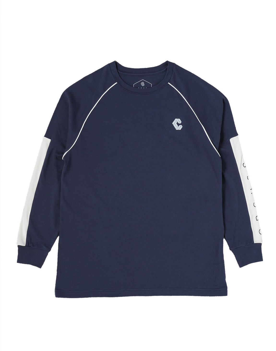 <img class='new_mark_img1' src='https://img.shop-pro.jp/img/new/icons55.gif' style='border:none;display:inline;margin:0px;padding:0px;width:auto;' />CRONOS ARM LOGO LONG SLEEVE【NAVY】