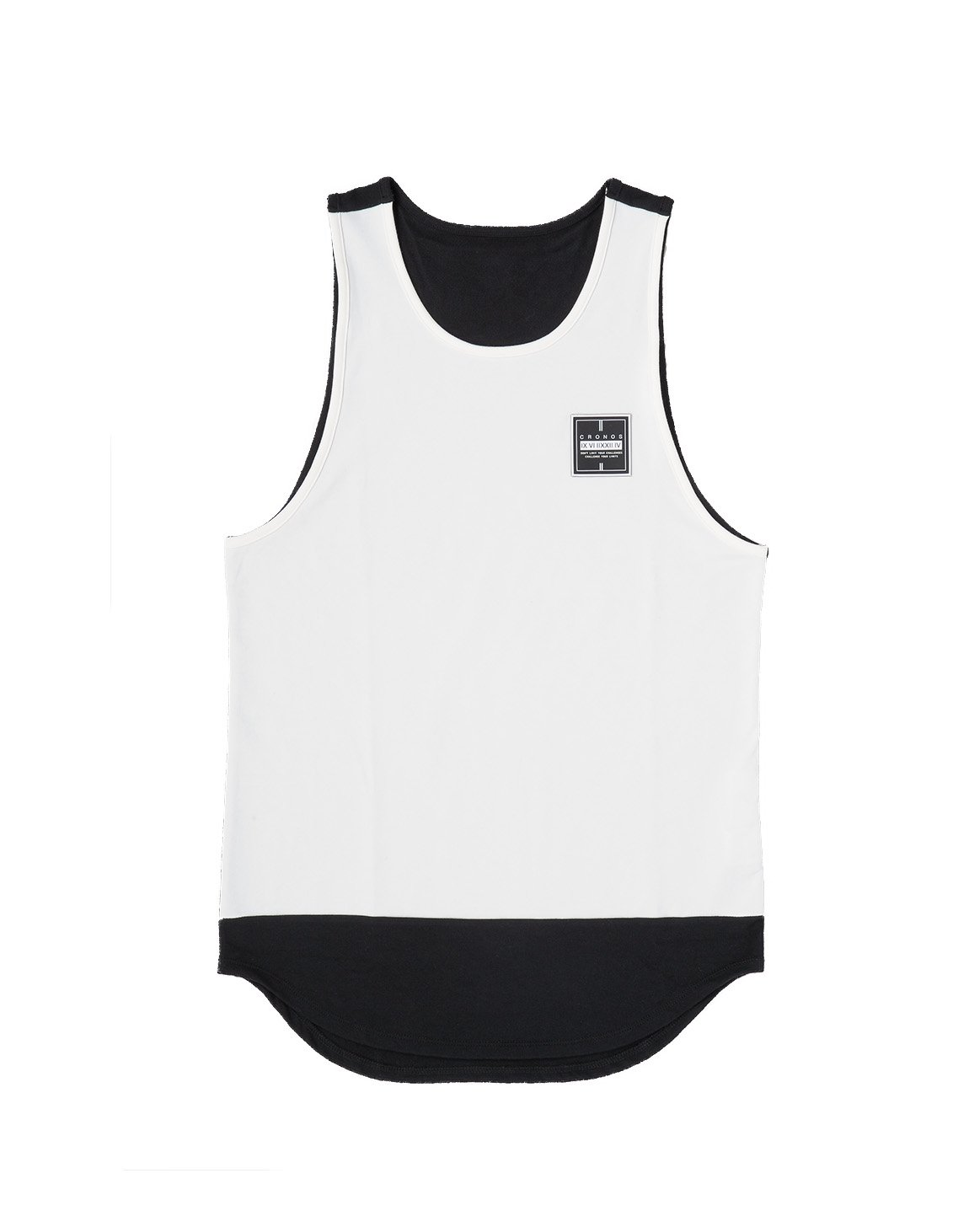 <img class='new_mark_img1' src='https://img.shop-pro.jp/img/new/icons1.gif' style='border:none;display:inline;margin:0px;padding:0px;width:auto;' />CRONOS BI-COLOR TANK TOP 【WHITE】