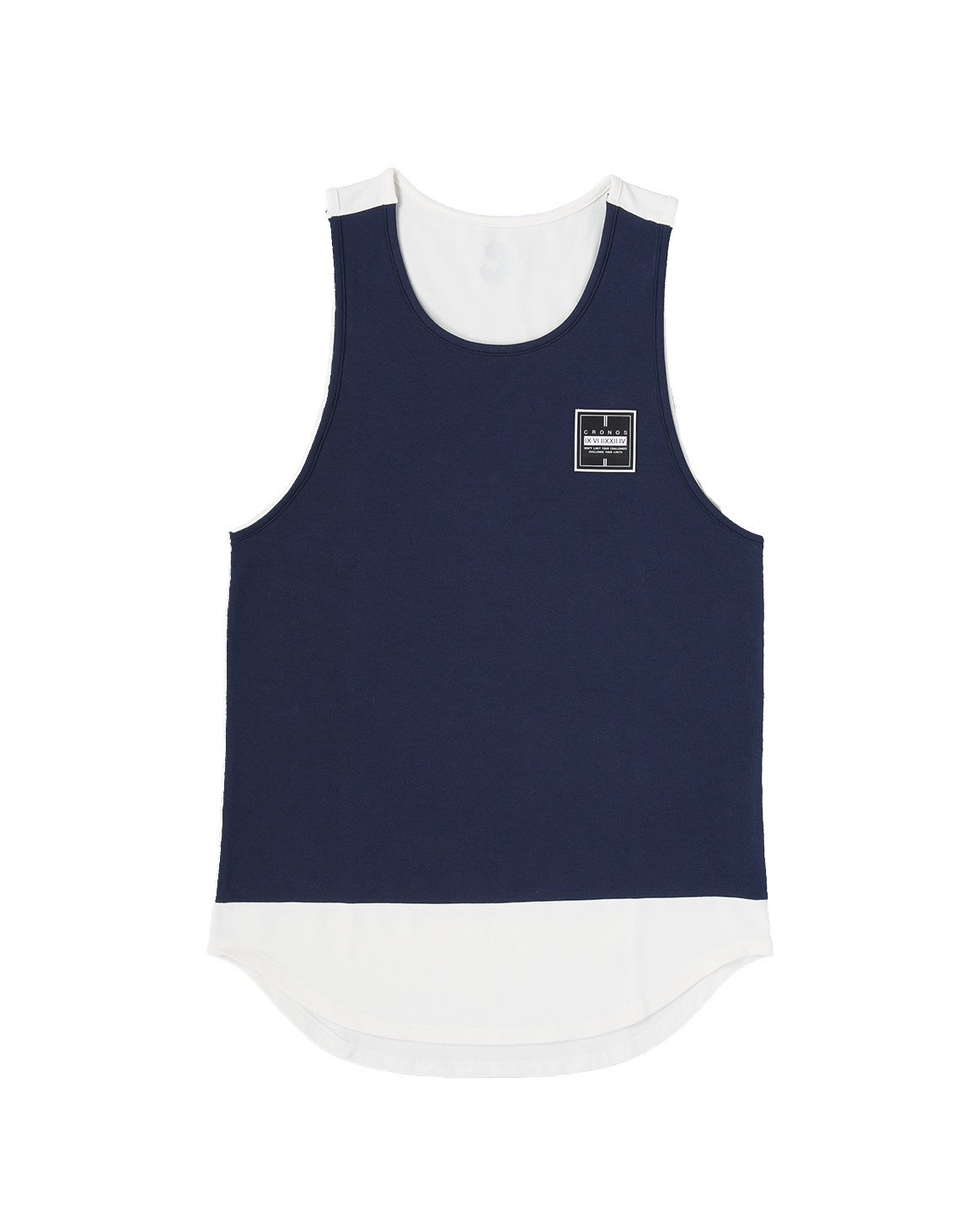 <img class='new_mark_img1' src='https://img.shop-pro.jp/img/new/icons1.gif' style='border:none;display:inline;margin:0px;padding:0px;width:auto;' />CRONOS BI-COLOR TANK TOP 【NAVY】