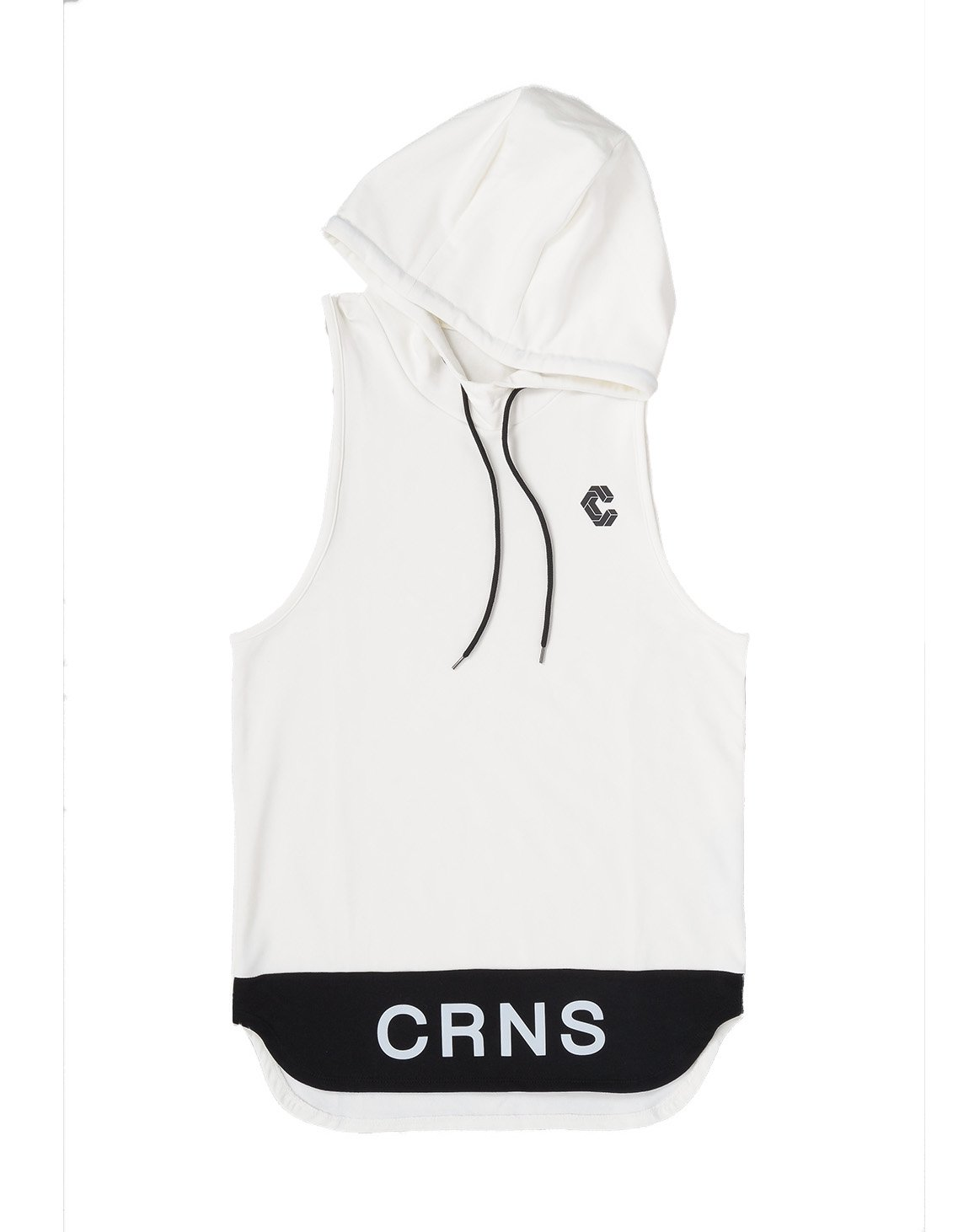 <img class='new_mark_img1' src='https://img.shop-pro.jp/img/new/icons1.gif' style='border:none;display:inline;margin:0px;padding:0px;width:auto;' />CRONOS BI-COLOR HOODY TANK TOP 【WHITE】
