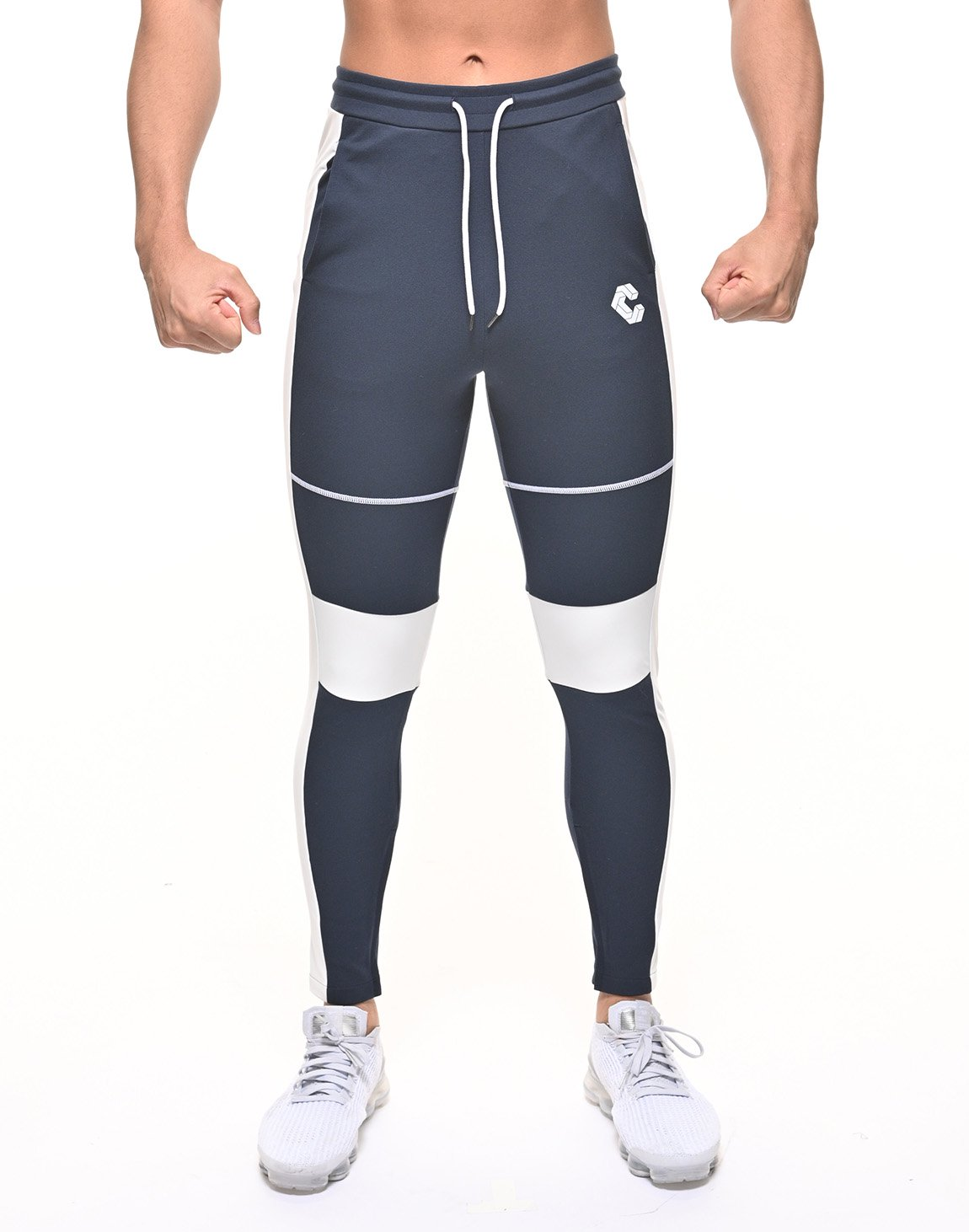 <img class='new_mark_img1' src='https://img.shop-pro.jp/img/new/icons55.gif' style='border:none;display:inline;margin:0px;padding:0px;width:auto;' />CRONOS THIGH STITCH LINE PANTS 【NAVY】