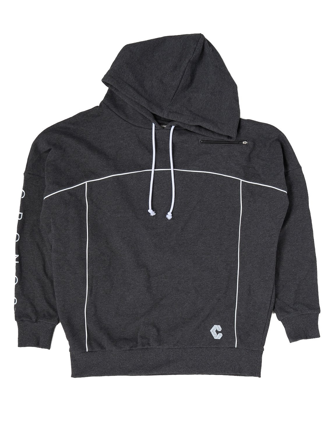 CRONOS ARM LOGO LINE ACCENT BIG SIZE HOODY【GRAY】