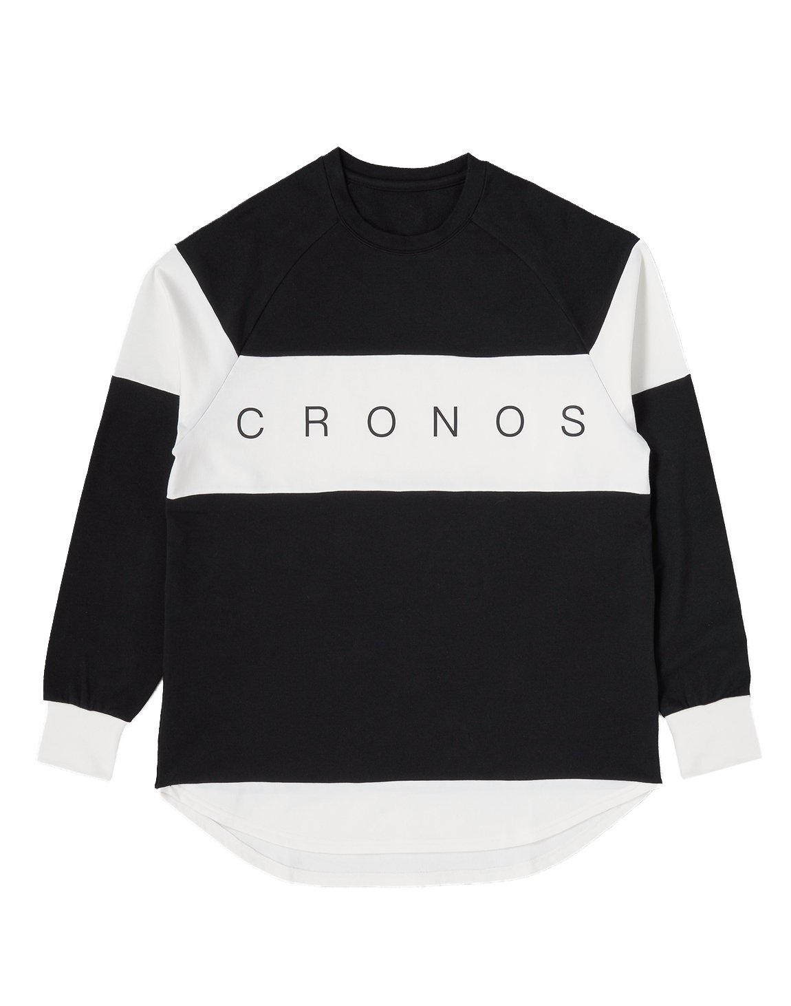 <img class='new_mark_img1' src='https://img.shop-pro.jp/img/new/icons1.gif' style='border:none;display:inline;margin:0px;padding:0px;width:auto;' />CRONOS Bi-COLOR  LONG SLEEVE【BLACK】