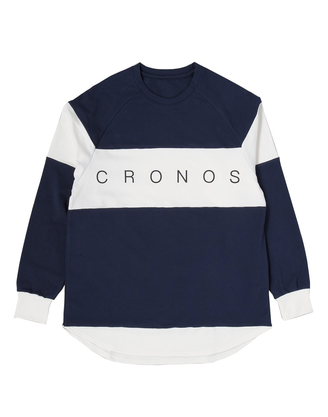 <img class='new_mark_img1' src='https://img.shop-pro.jp/img/new/icons1.gif' style='border:none;display:inline;margin:0px;padding:0px;width:auto;' />CRONOS Bi-COLOR  LONG SLEEVE【NAVY】