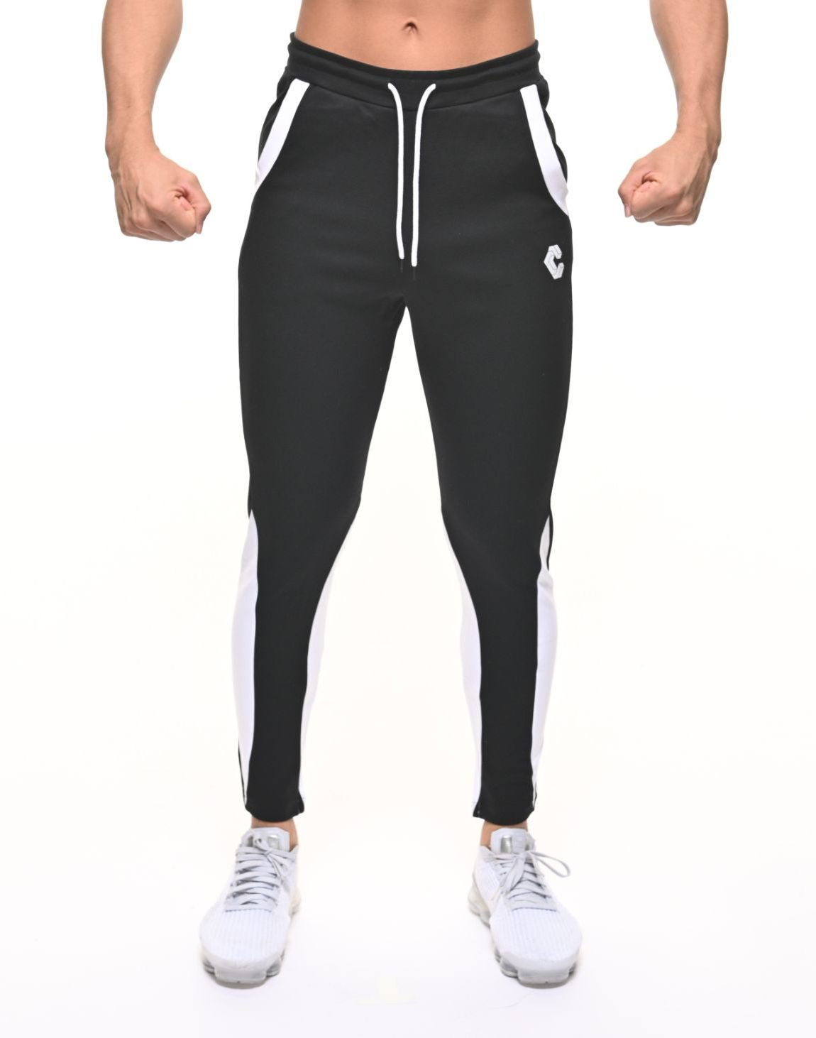 <img class='new_mark_img1' src='https://img.shop-pro.jp/img/new/icons1.gif' style='border:none;display:inline;margin:0px;padding:0px;width:auto;' />CRNS CALF SHAPE LINE PANTS【BLACK】