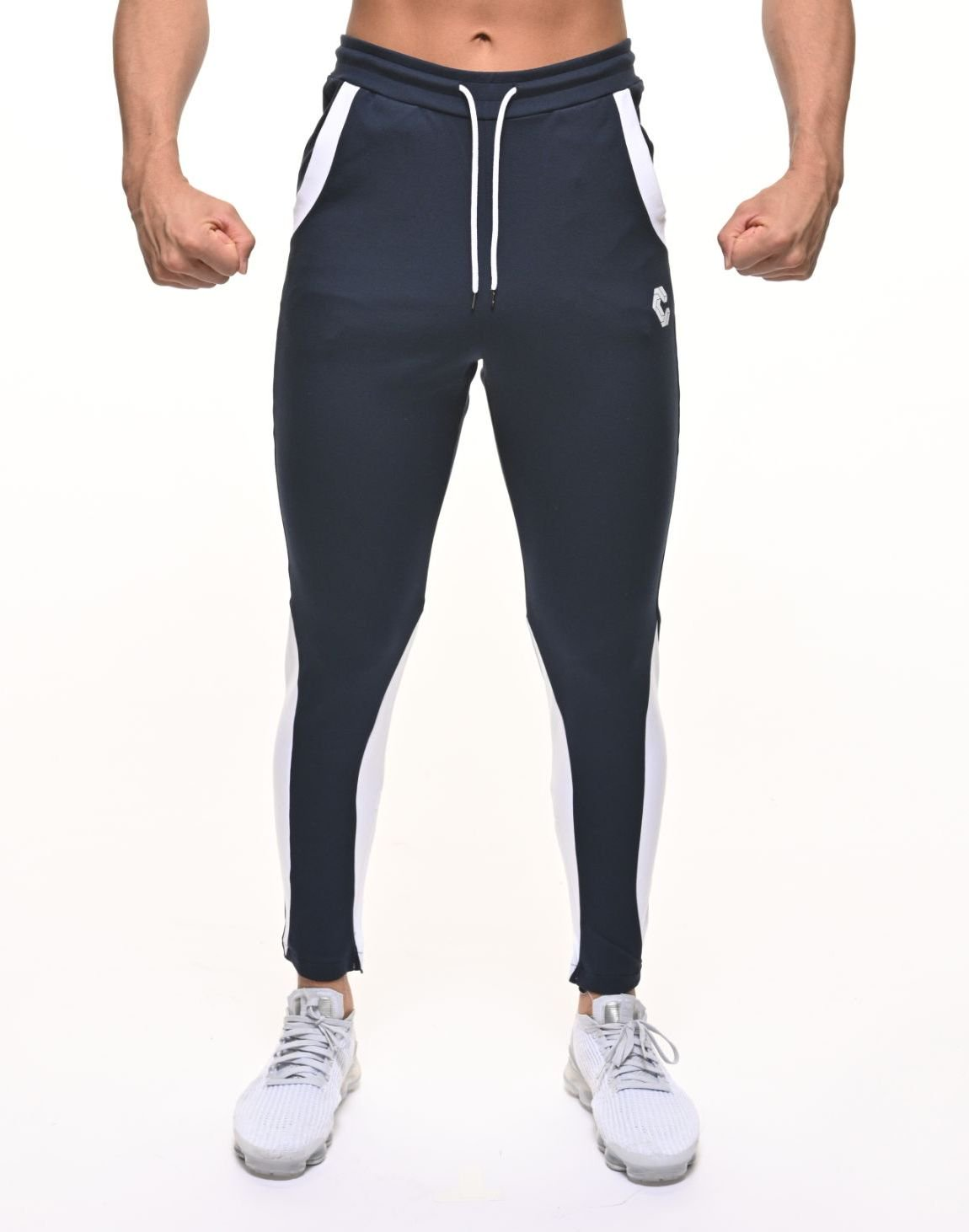 <img class='new_mark_img1' src='https://img.shop-pro.jp/img/new/icons55.gif' style='border:none;display:inline;margin:0px;padding:0px;width:auto;' />CRNS CALF SHAPE LINE PANTS【NAVY】