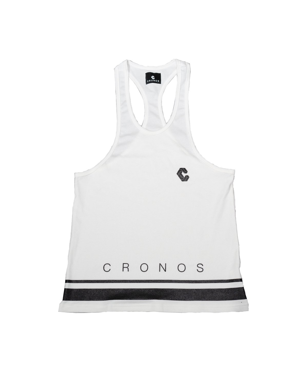 <img class='new_mark_img1' src='https://img.shop-pro.jp/img/new/icons1.gif' style='border:none;display:inline;margin:0px;padding:0px;width:auto;' />CRONOS HEM TWO LINE TANK TOP 【WHITE】