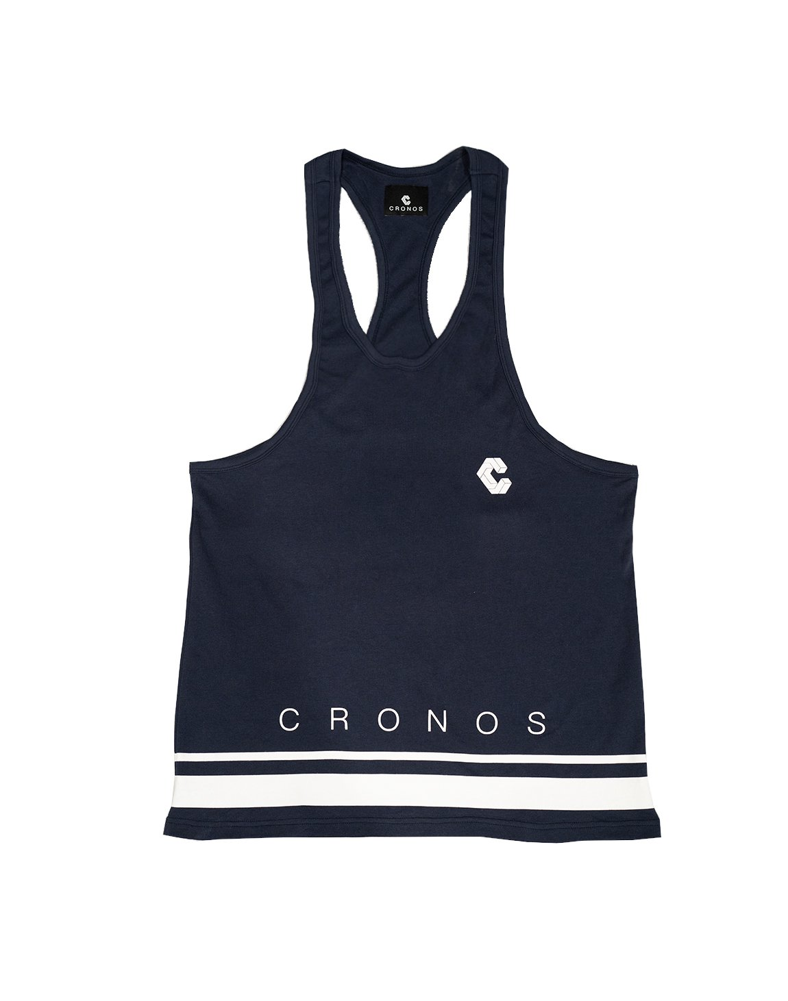 <img class='new_mark_img1' src='https://img.shop-pro.jp/img/new/icons1.gif' style='border:none;display:inline;margin:0px;padding:0px;width:auto;' />CRONOS HEM TWO LINE TANK TOP 【NAVY】