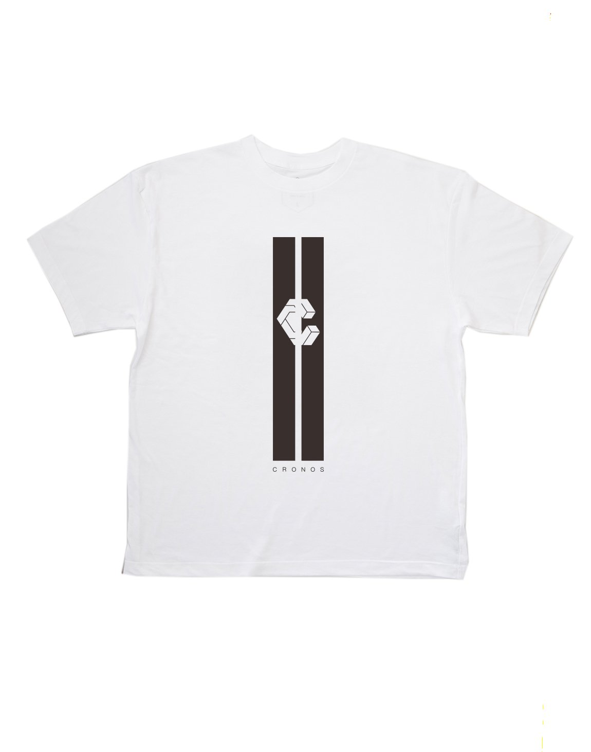 <img class='new_mark_img1' src='https://img.shop-pro.jp/img/new/icons1.gif' style='border:none;display:inline;margin:0px;padding:0px;width:auto;' />CRONOS STRIPE LOGO T-SHIRT【WHITE】