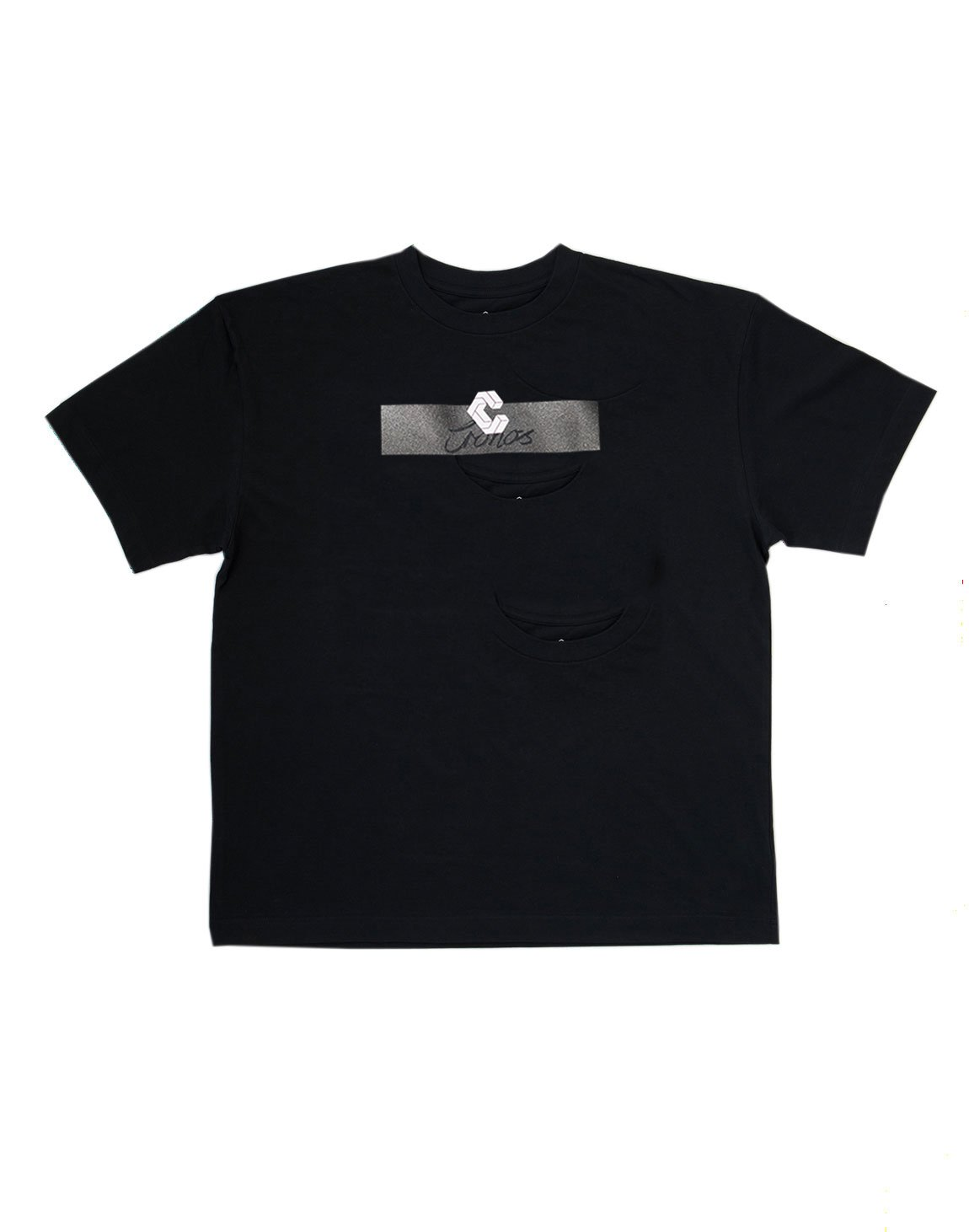 <img class='new_mark_img1' src='https://img.shop-pro.jp/img/new/icons1.gif' style='border:none;display:inline;margin:0px;padding:0px;width:auto;' />CRONOS CURSIVE LOGO T-SHIRT【BLACK】