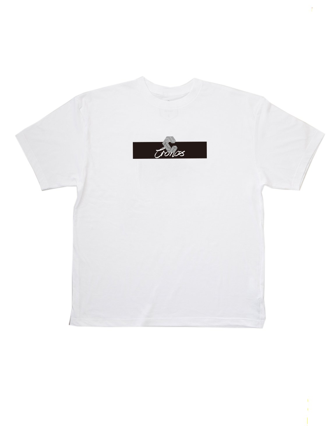<img class='new_mark_img1' src='https://img.shop-pro.jp/img/new/icons1.gif' style='border:none;display:inline;margin:0px;padding:0px;width:auto;' />CRONOS CURSIVE LOGO T-SHIRT【WHITE】