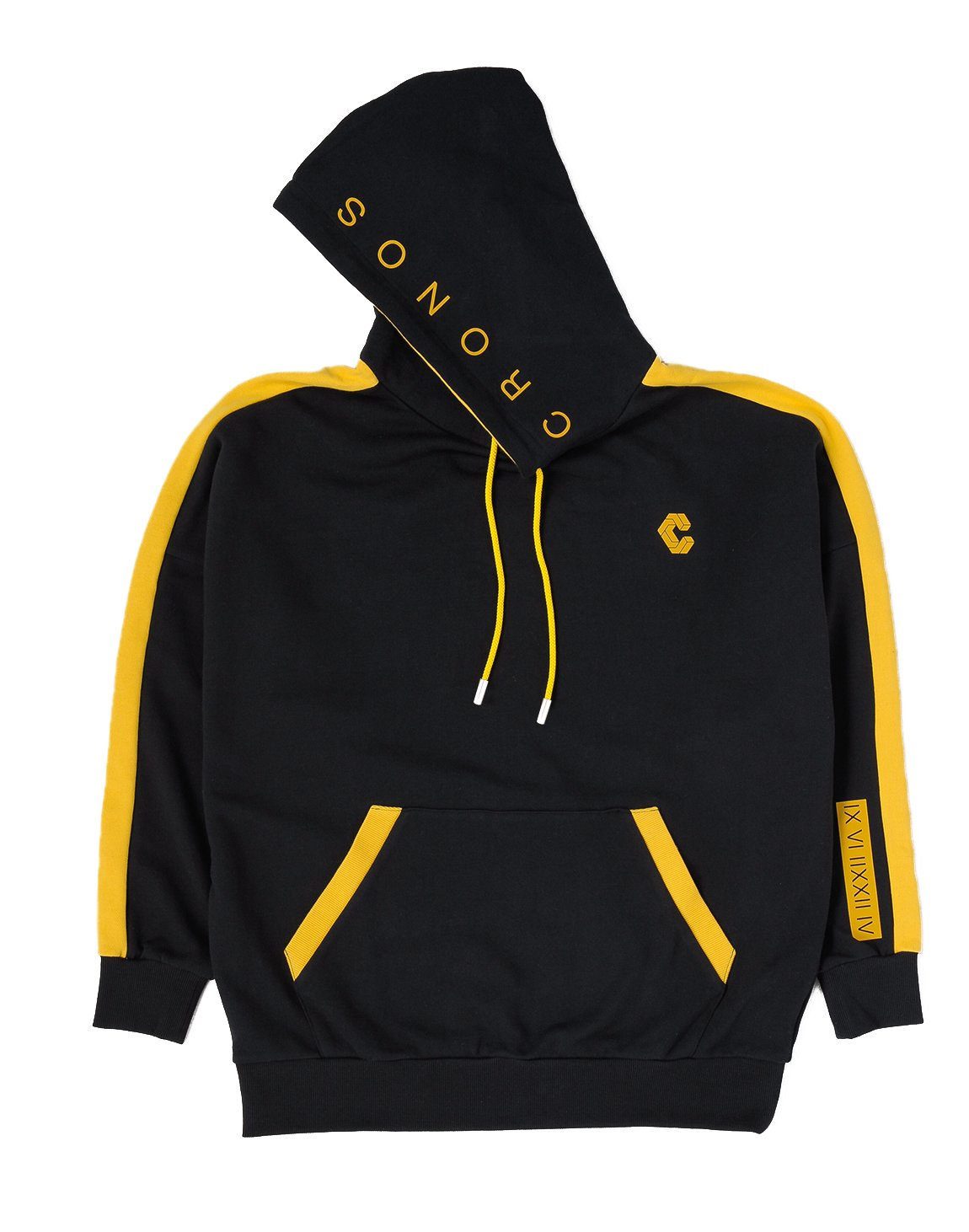 <img class='new_mark_img1' src='https://img.shop-pro.jp/img/new/icons1.gif' style='border:none;display:inline;margin:0px;padding:0px;width:auto;' />CRONOS ARM LINE HOODY【SP.BLACK】