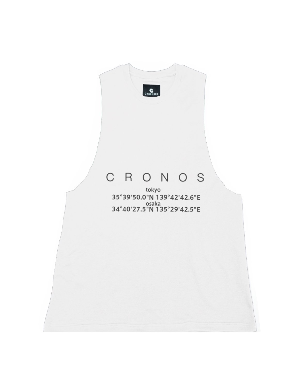 <img class='new_mark_img1' src='https://img.shop-pro.jp/img/new/icons55.gif' style='border:none;display:inline;margin:0px;padding:0px;width:auto;' />CRONOS LOCATION LOGO TANK TOP【WHITE】