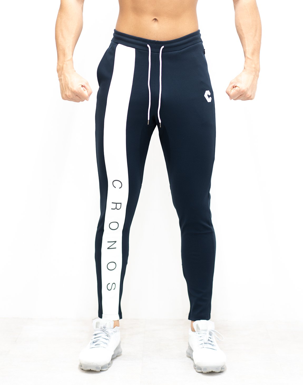 <img class='new_mark_img1' src='https://img.shop-pro.jp/img/new/icons1.gif' style='border:none;display:inline;margin:0px;padding:0px;width:auto;' />CRONOS NEW LINE PANT 【NAVY×WHITE】