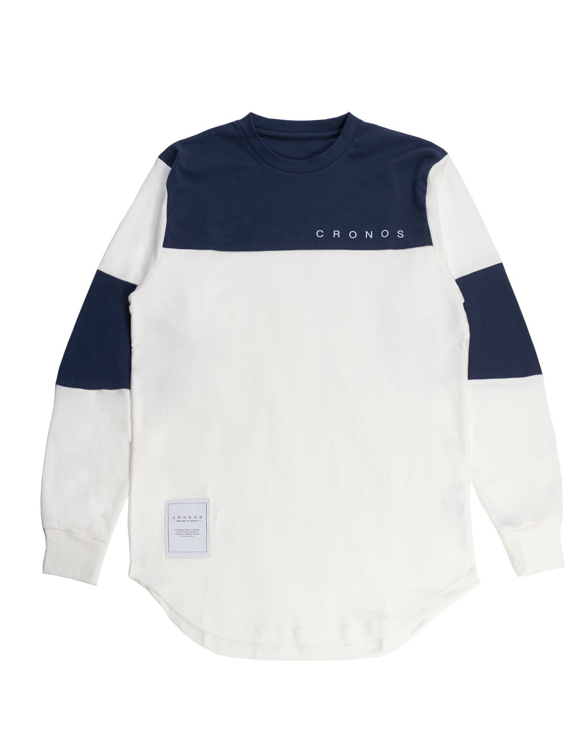 <img class='new_mark_img1' src='https://img.shop-pro.jp/img/new/icons55.gif' style='border:none;display:inline;margin:0px;padding:0px;width:auto;' />CRONOS NEW BICOLOR  LONG SLEEVE【WHITE×NAVY】
