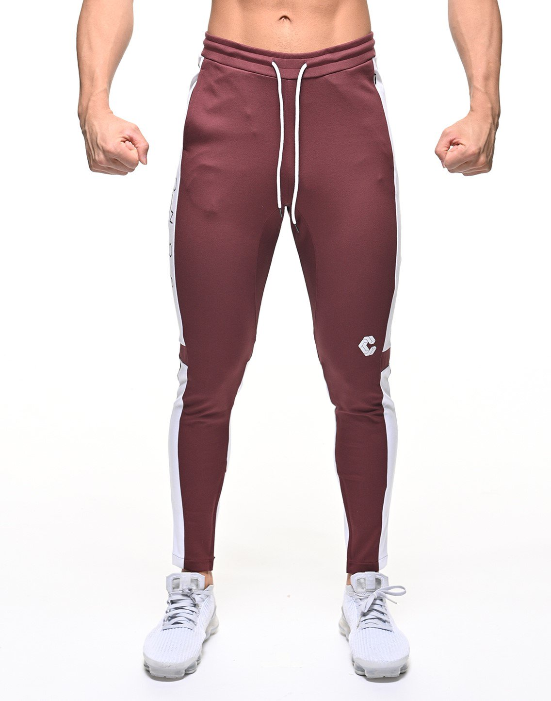 <img class='new_mark_img1' src='https://img.shop-pro.jp/img/new/icons1.gif' style='border:none;display:inline;margin:0px;padding:0px;width:auto;' />CRONOS NEW THICK LINE PANT 【BORDEAUX×WHITE】