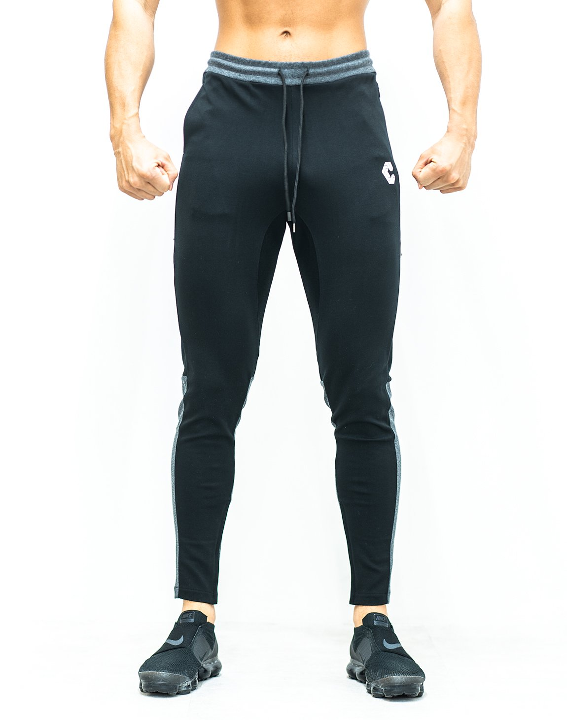 <img class='new_mark_img1' src='https://img.shop-pro.jp/img/new/icons1.gif' style='border:none;display:inline;margin:0px;padding:0px;width:auto;' />CRONOS CALF LOGO Bi-COLOR PANTS 【BLACK×GRAY】