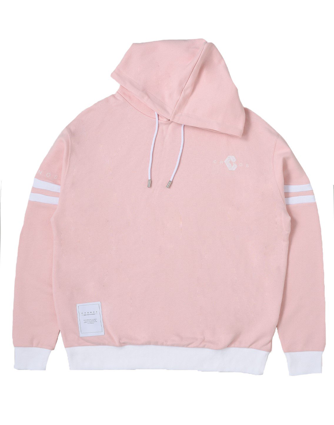 <img class='new_mark_img1' src='https://img.shop-pro.jp/img/new/icons55.gif' style='border:none;display:inline;margin:0px;padding:0px;width:auto;' />CRONOS ARM TWO LINE HOODY【PINK×WHITE】