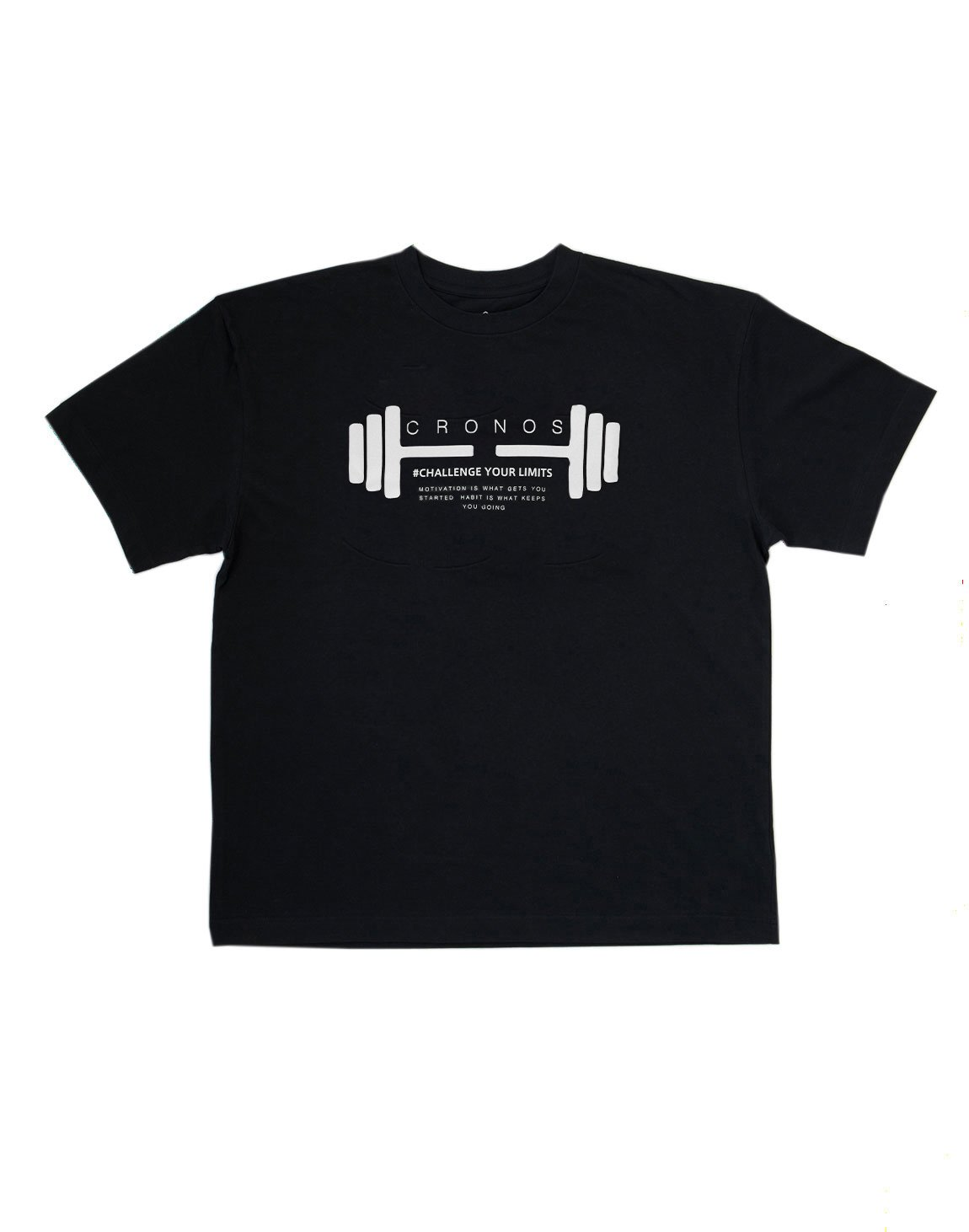 <img class='new_mark_img1' src='https://img.shop-pro.jp/img/new/icons1.gif' style='border:none;display:inline;margin:0px;padding:0px;width:auto;' />CRONOS DUMBBELL LOGO T-SHIRTS【BLACK】