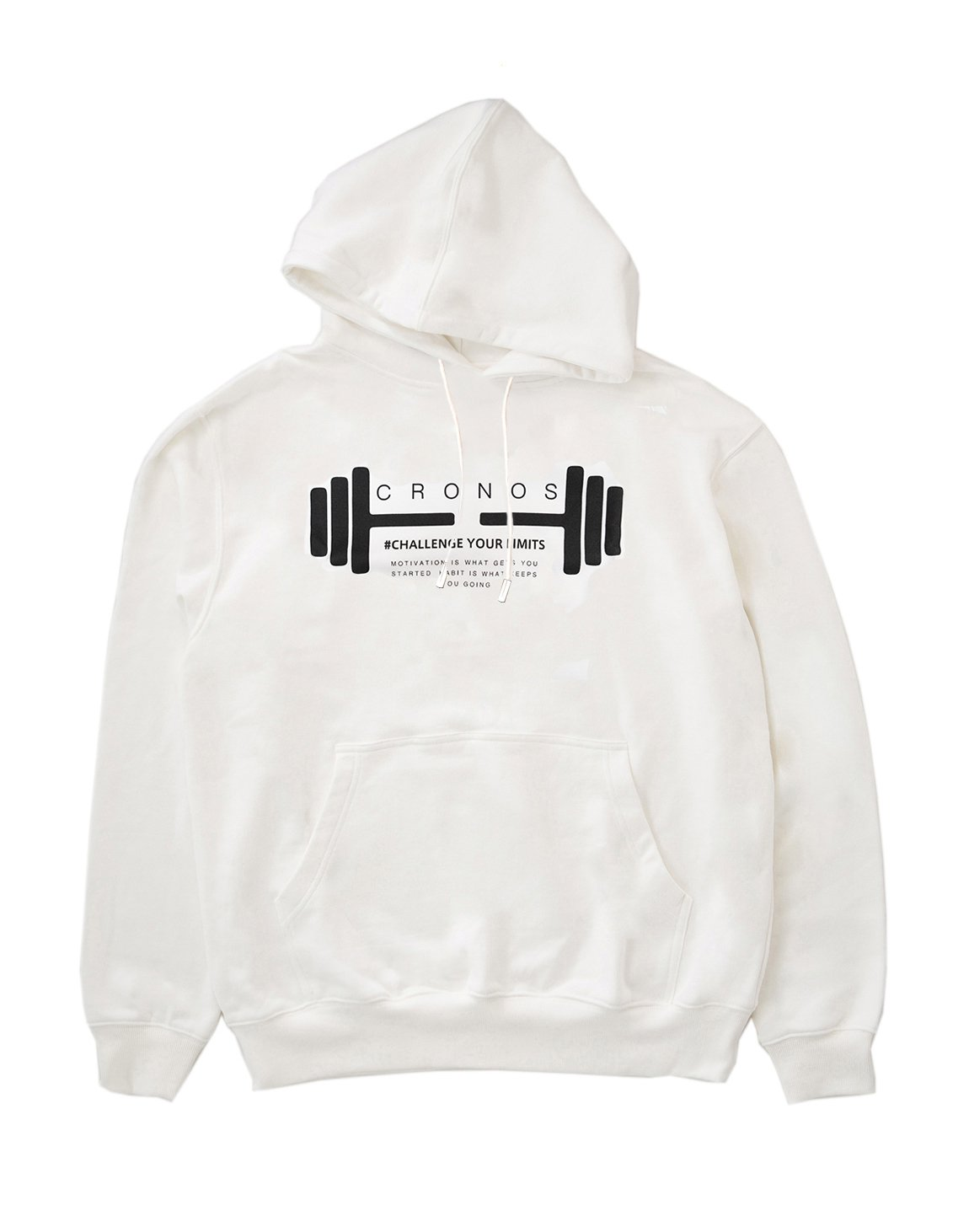 <img class='new_mark_img1' src='https://img.shop-pro.jp/img/new/icons55.gif' style='border:none;display:inline;margin:0px;padding:0px;width:auto;' />CRONOS DUMBBELL LOGO HOODY【WHITE】