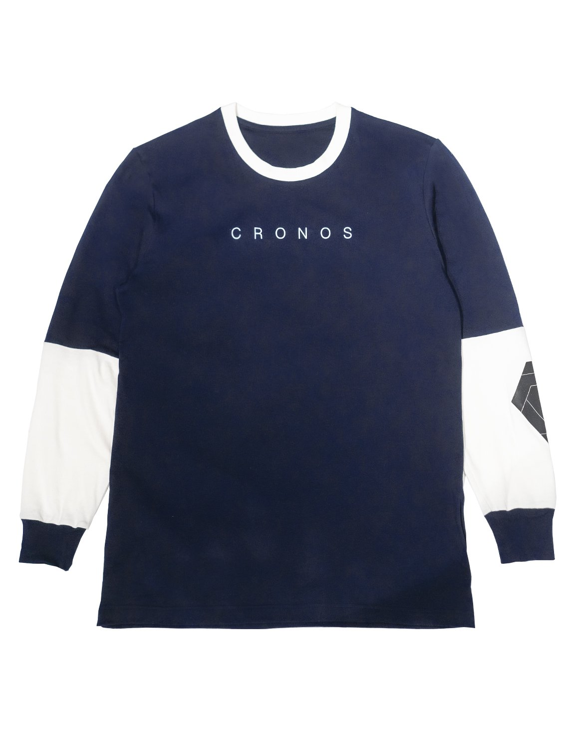 <img class='new_mark_img1' src='https://img.shop-pro.jp/img/new/icons1.gif' style='border:none;display:inline;margin:0px;padding:0px;width:auto;' />CRONOS NEW ARM LOGO LONG SLEEVE【NAVY】