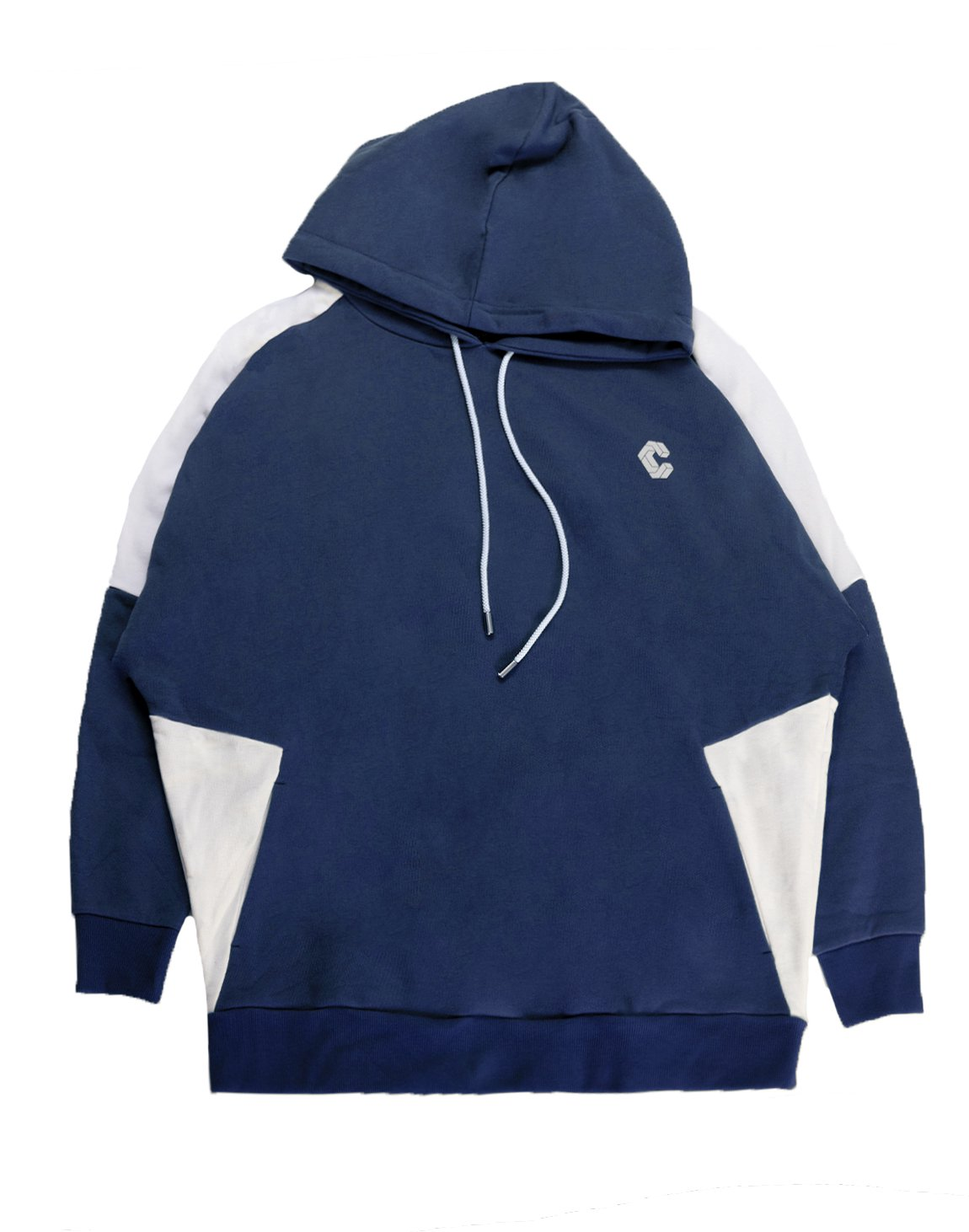 <img class='new_mark_img1' src='https://img.shop-pro.jp/img/new/icons55.gif' style='border:none;display:inline;margin:0px;padding:0px;width:auto;' />CRONOS NEW SHOULDER COLOR HOODY【NAVY×WHITE】