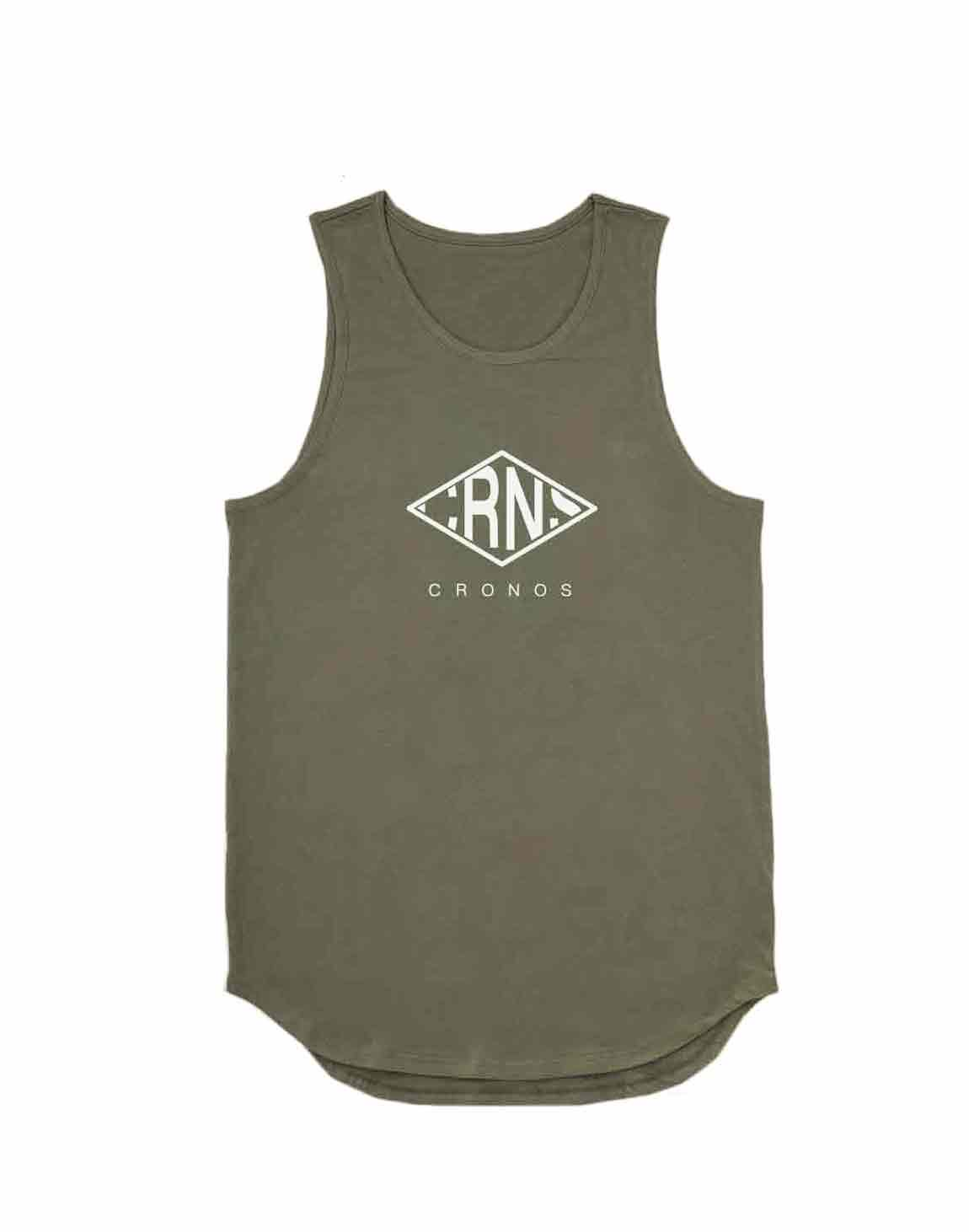 <img class='new_mark_img1' src='https://img.shop-pro.jp/img/new/icons55.gif' style='border:none;display:inline;margin:0px;padding:0px;width:auto;' />CRNS RHOMBUS LOGO TANKTOP【KHAKI】