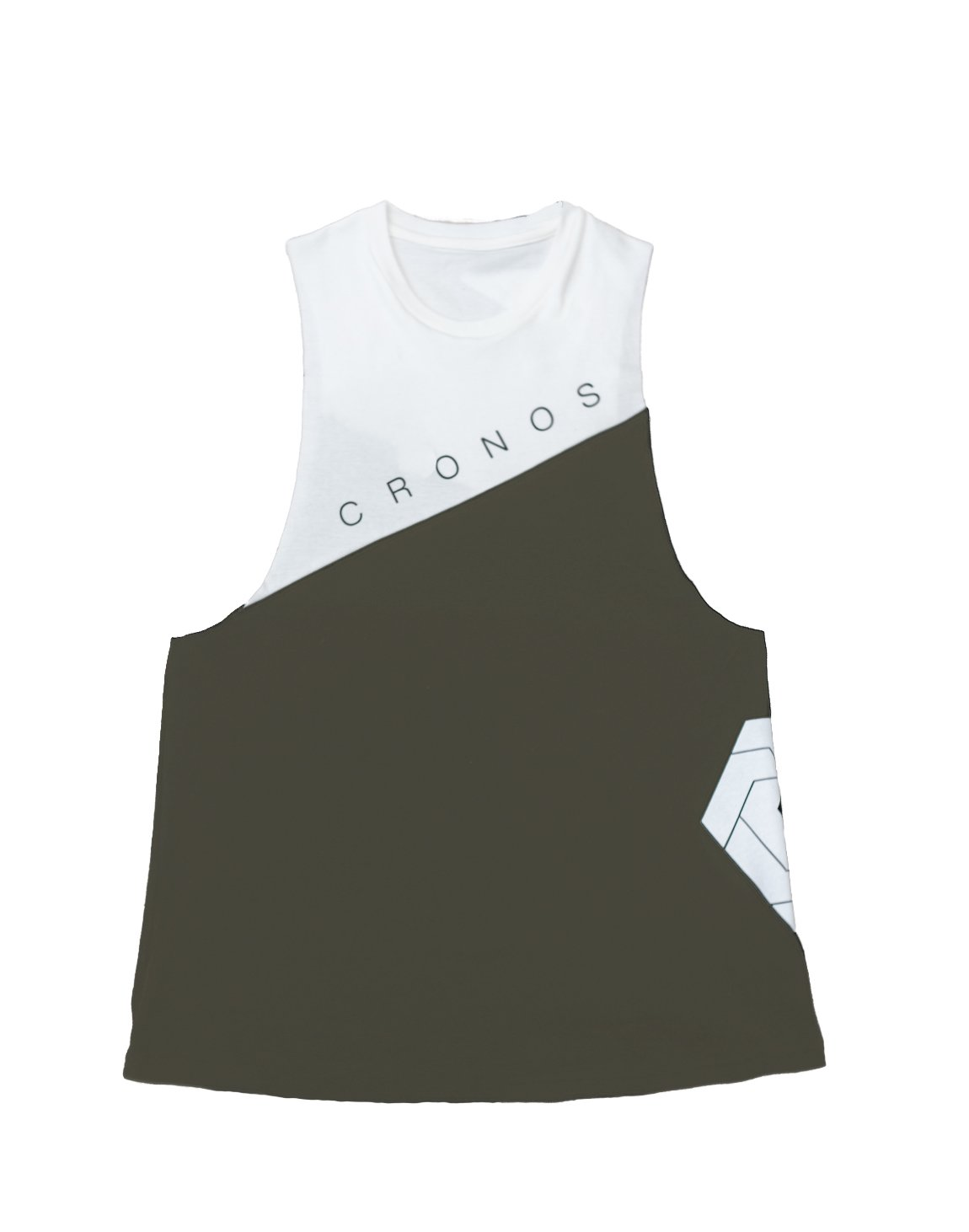 <img class='new_mark_img1' src='https://img.shop-pro.jp/img/new/icons55.gif' style='border:none;display:inline;margin:0px;padding:0px;width:auto;' />CRONOS NEW Bi-COLOR TANK TOP【KHAKI×WHITE】