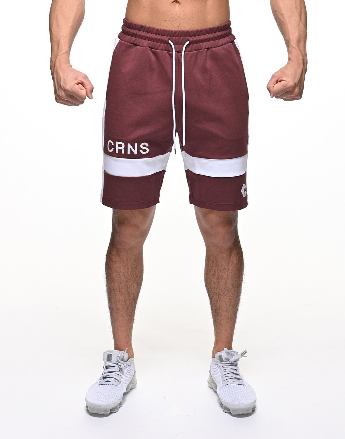 CRNS THICK LINE SHORTS【BORDEAUX】