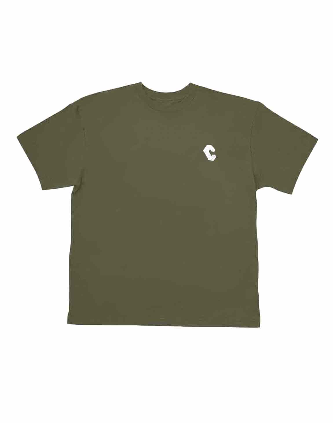 <img class='new_mark_img1' src='https://img.shop-pro.jp/img/new/icons55.gif' style='border:none;display:inline;margin:0px;padding:0px;width:auto;' />CRONOS HALF LOGO OVER SIZE T-SHIRT【KHAKI】