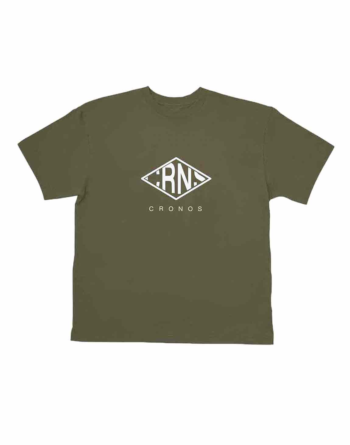 <img class='new_mark_img1' src='https://img.shop-pro.jp/img/new/icons55.gif' style='border:none;display:inline;margin:0px;padding:0px;width:auto;' />CRNS RHOMBUS LOGO OVER SIZE T-SHIRT【KHAKI】