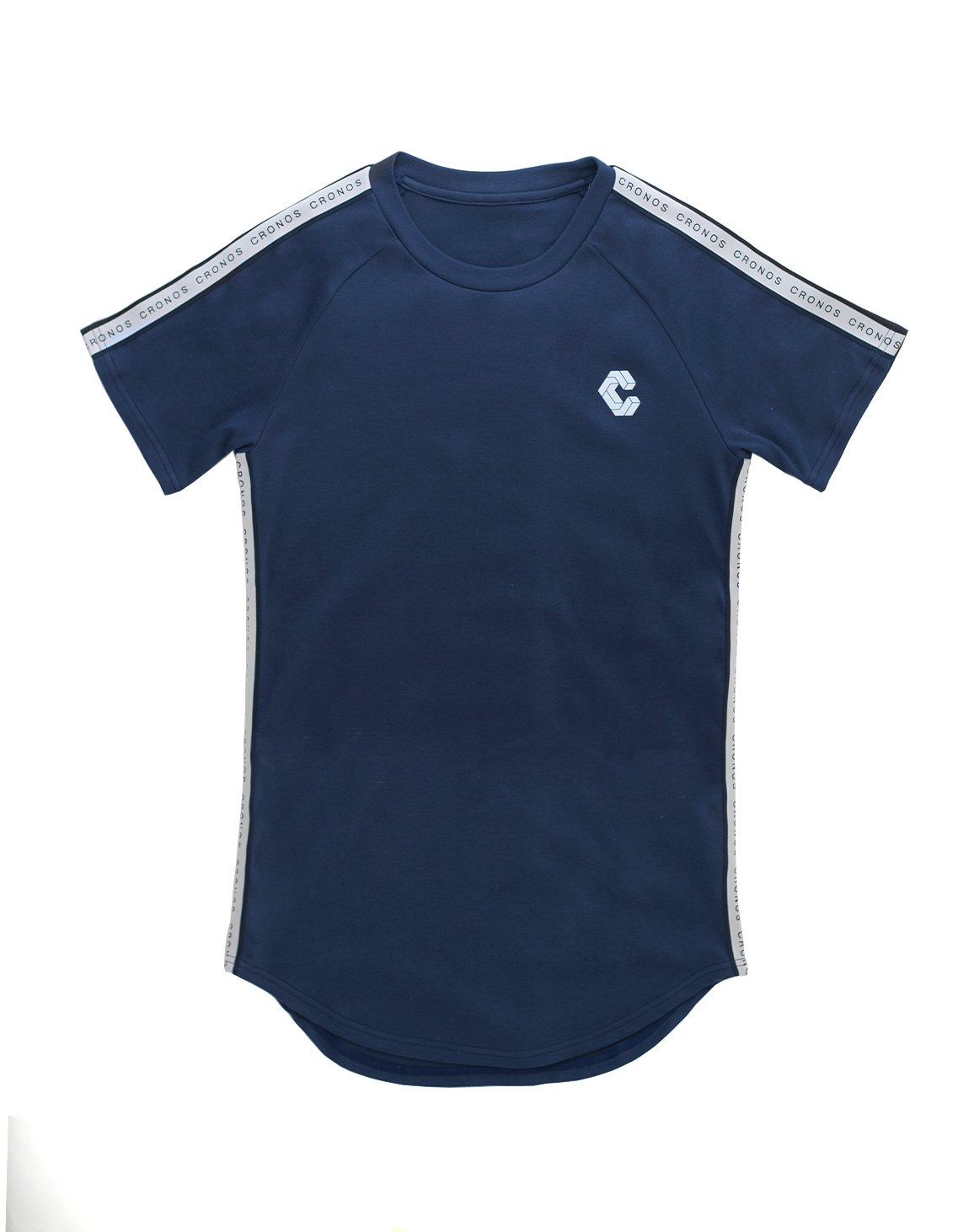 <img class='new_mark_img1' src='https://img.shop-pro.jp/img/new/icons55.gif' style='border:none;display:inline;margin:0px;padding:0px;width:auto;' />CRONOS LOGO STRIPE T-SHIRTS【NAVY】