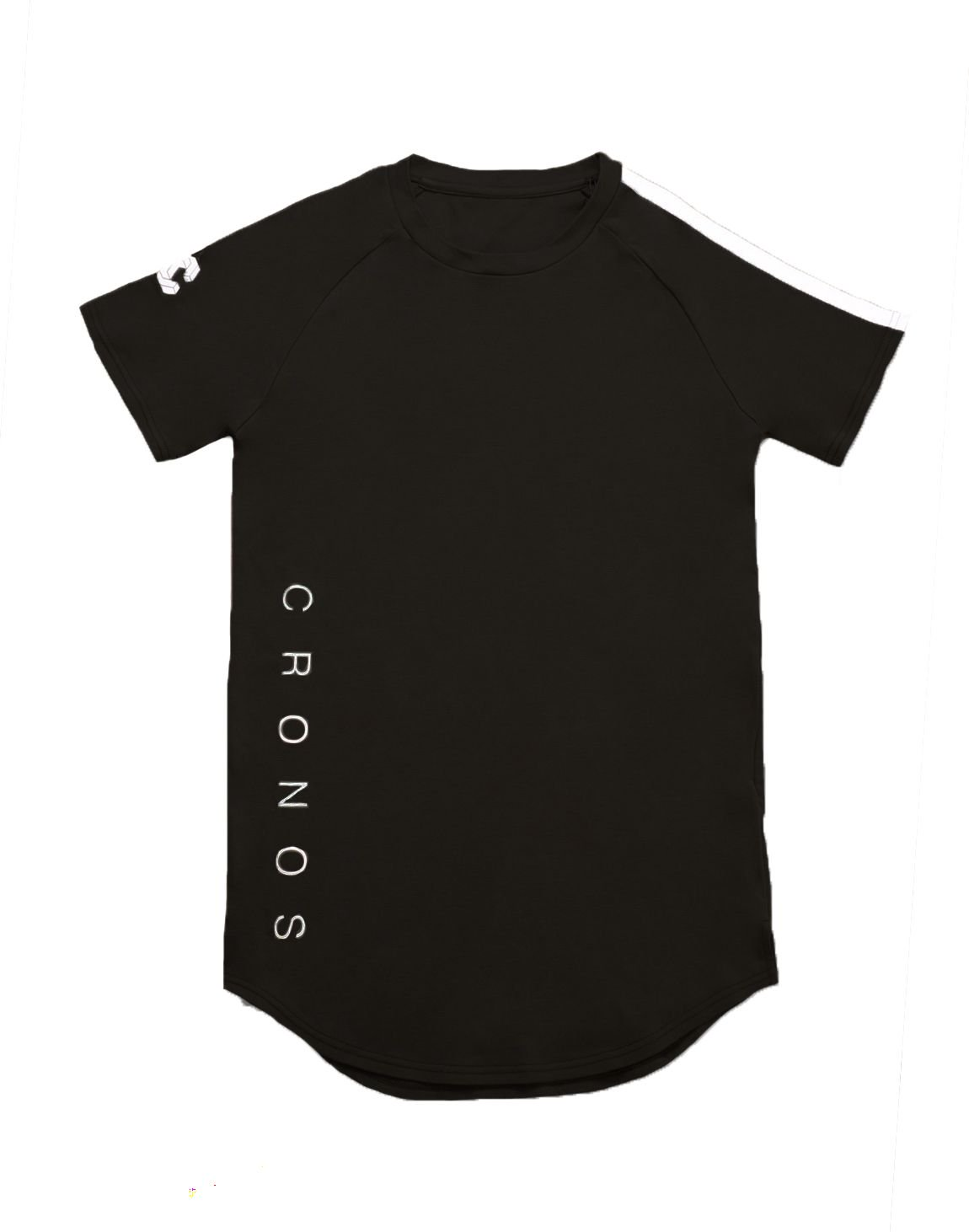 <img class='new_mark_img1' src='https://img.shop-pro.jp/img/new/icons1.gif' style='border:none;display:inline;margin:0px;padding:0px;width:auto;' />CRONOS SHOULDER TWO LINE T-SHIRTS【BLACK】