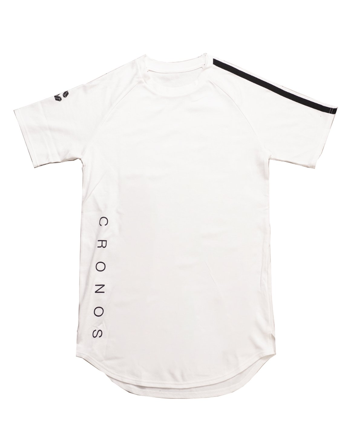 <img class='new_mark_img1' src='https://img.shop-pro.jp/img/new/icons55.gif' style='border:none;display:inline;margin:0px;padding:0px;width:auto;' />CRONOS SHOULDER TWO LINE T-SHIRTS【WHITE】