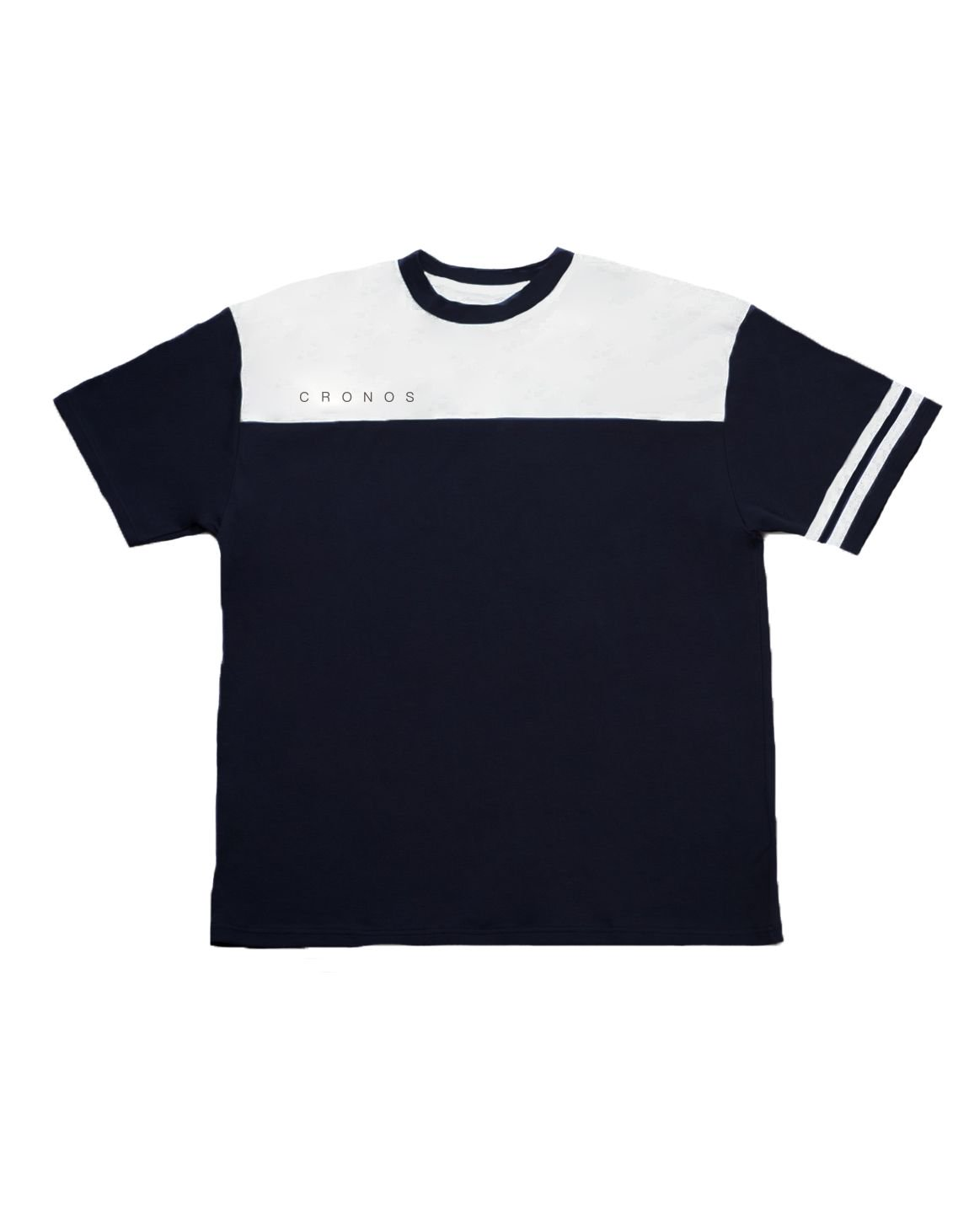<img class='new_mark_img1' src='https://img.shop-pro.jp/img/new/icons55.gif' style='border:none;display:inline;margin:0px;padding:0px;width:auto;' />CRONOS Bi-COLOR SLEEVE LINE OVER SIZE T-SHIRTS【BLACK】