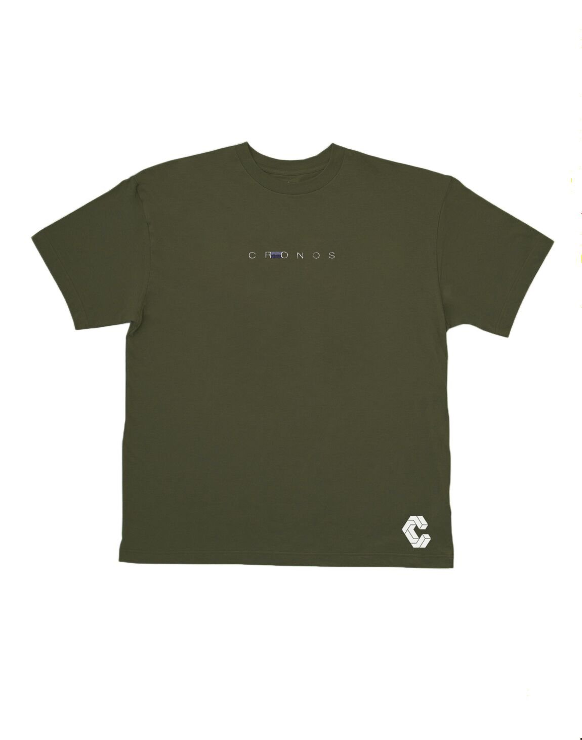 <img class='new_mark_img1' src='https://img.shop-pro.jp/img/new/icons55.gif' style='border:none;display:inline;margin:0px;padding:0px;width:auto;' />CRONOS STITCH LOGO OVER SIZE T-SHIRTS【KHAKI】