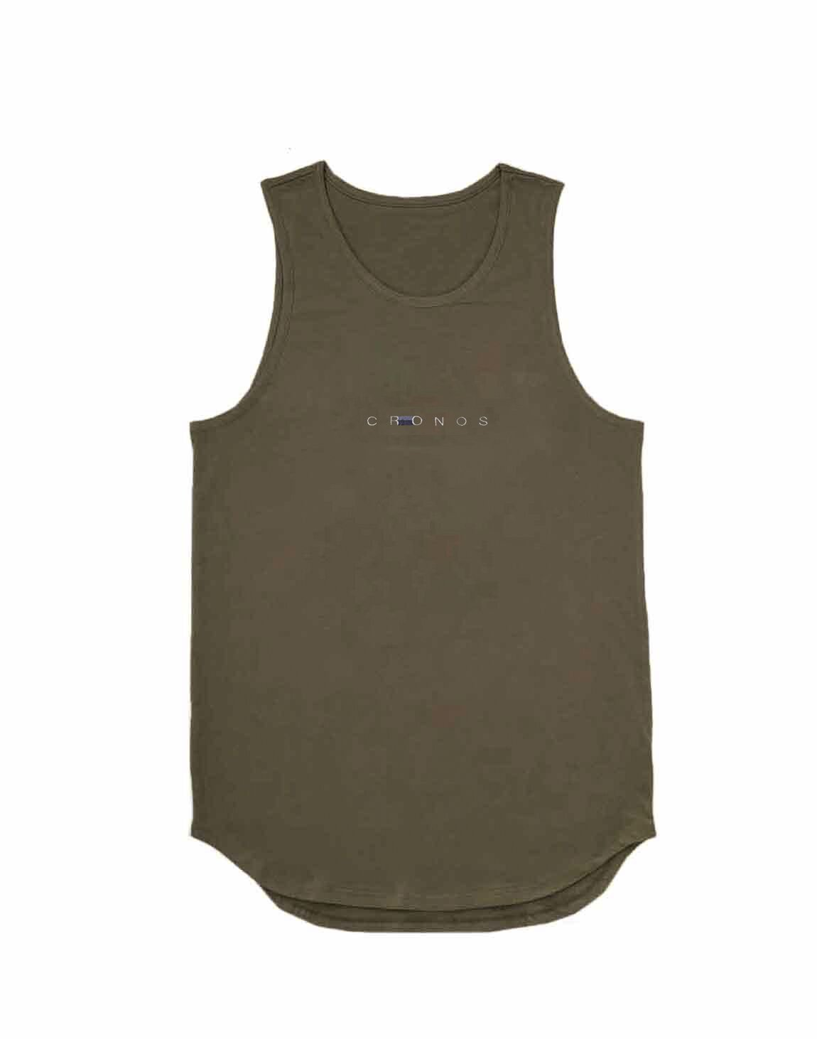 <img class='new_mark_img1' src='https://img.shop-pro.jp/img/new/icons55.gif' style='border:none;display:inline;margin:0px;padding:0px;width:auto;' />CRONOS STITCH TANK TOP【KAHKI】