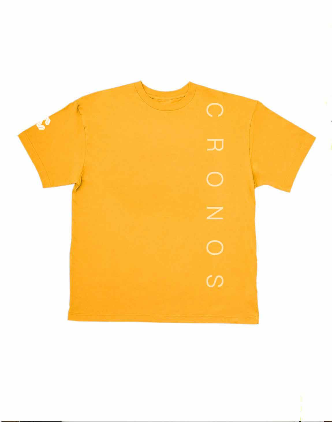 <img class='new_mark_img1' src='https://img.shop-pro.jp/img/new/icons1.gif' style='border:none;display:inline;margin:0px;padding:0px;width:auto;' />CRONOS SIMPLE LOGO T-SHIRTS【YELLOW】