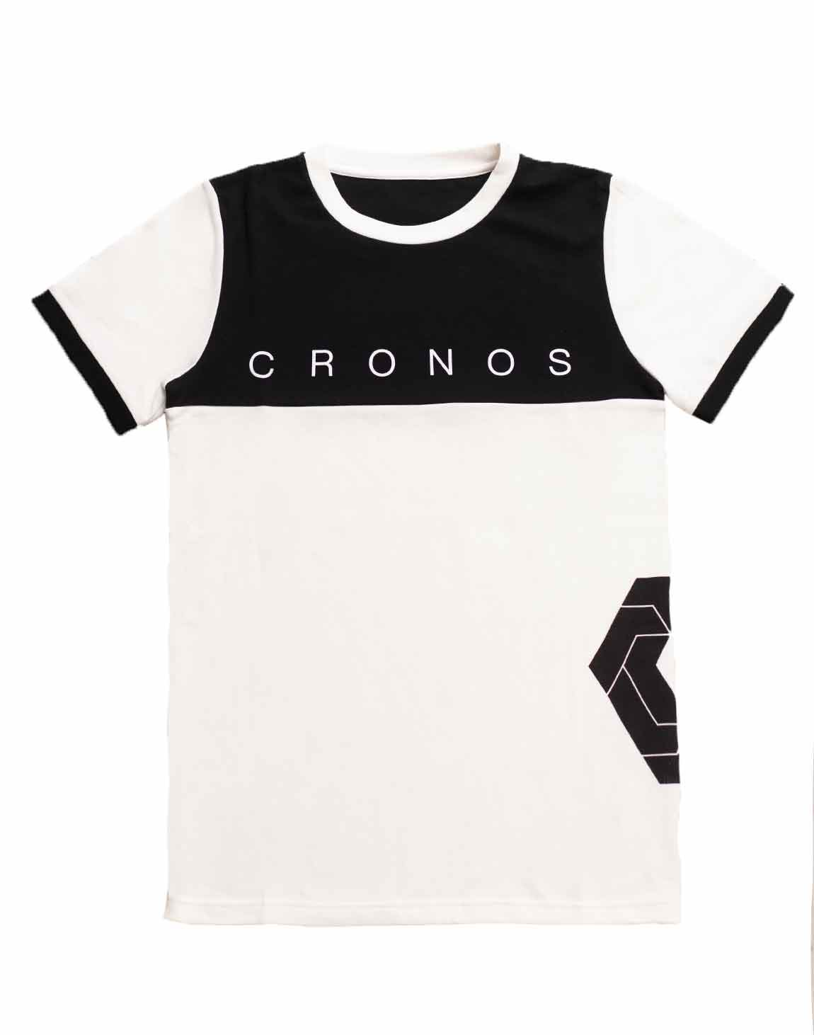 <img class='new_mark_img1' src='https://img.shop-pro.jp/img/new/icons1.gif' style='border:none;display:inline;margin:0px;padding:0px;width:auto;' />CRONOS Bi-COLOR SIDE LOGO T-SHIRTS【WHITE×BLACK】