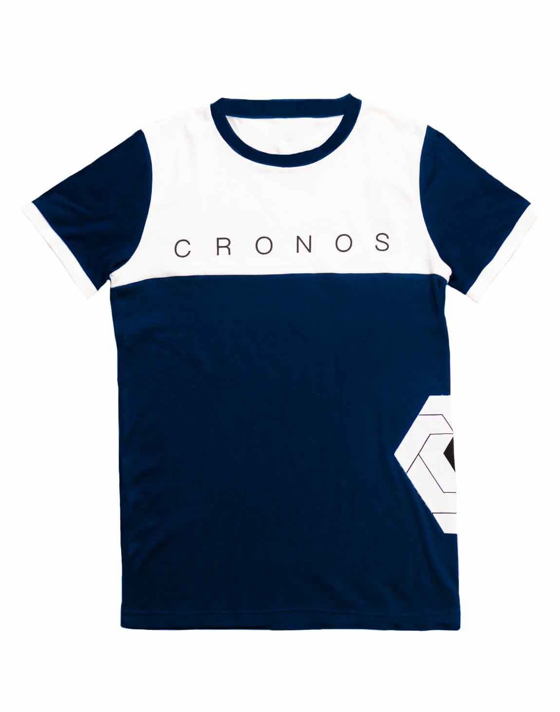 <img class='new_mark_img1' src='https://img.shop-pro.jp/img/new/icons1.gif' style='border:none;display:inline;margin:0px;padding:0px;width:auto;' />CRONOS Bi-COLOR SIDE LOGO T-SHIRTS【NAVY×WHITE】