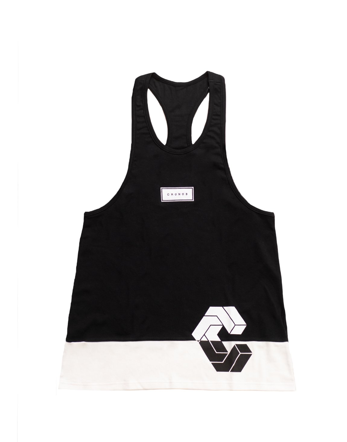 <img class='new_mark_img1' src='https://img.shop-pro.jp/img/new/icons55.gif' style='border:none;display:inline;margin:0px;padding:0px;width:auto;' />CRONOS BOX MODE SIDE LOGO TANK TOP【BLACK×WHITE】