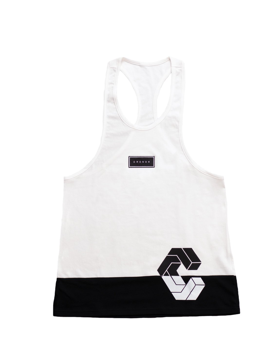 <img class='new_mark_img1' src='https://img.shop-pro.jp/img/new/icons55.gif' style='border:none;display:inline;margin:0px;padding:0px;width:auto;' />CRONOS BOX MODE SIDE LOGO TANK TOP【WHITE×BLACK】
