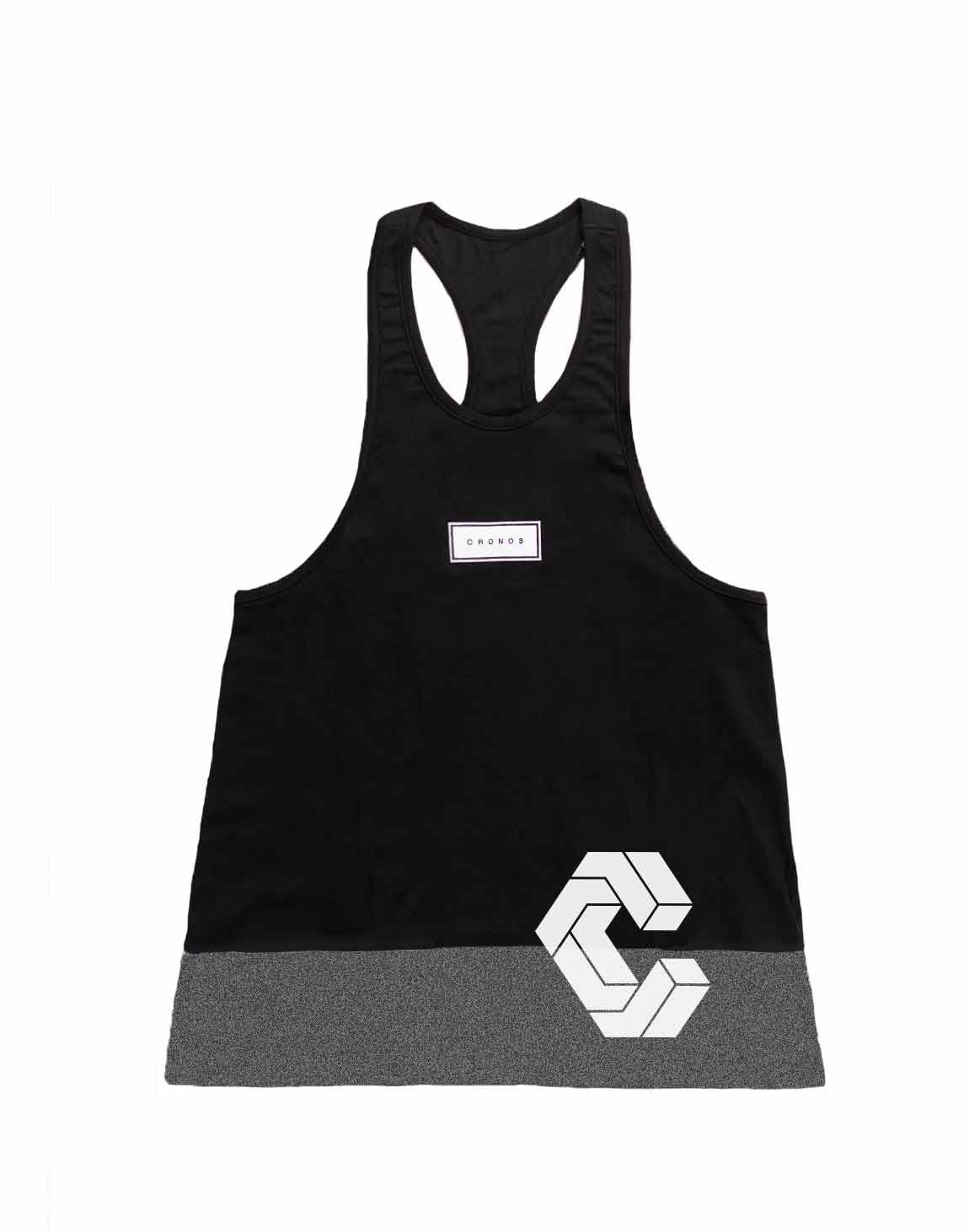 <img class='new_mark_img1' src='https://img.shop-pro.jp/img/new/icons55.gif' style='border:none;display:inline;margin:0px;padding:0px;width:auto;' />CRONOS BOX MODE SIDE LOGO TANK TOP【BLACK×C.GRAY】